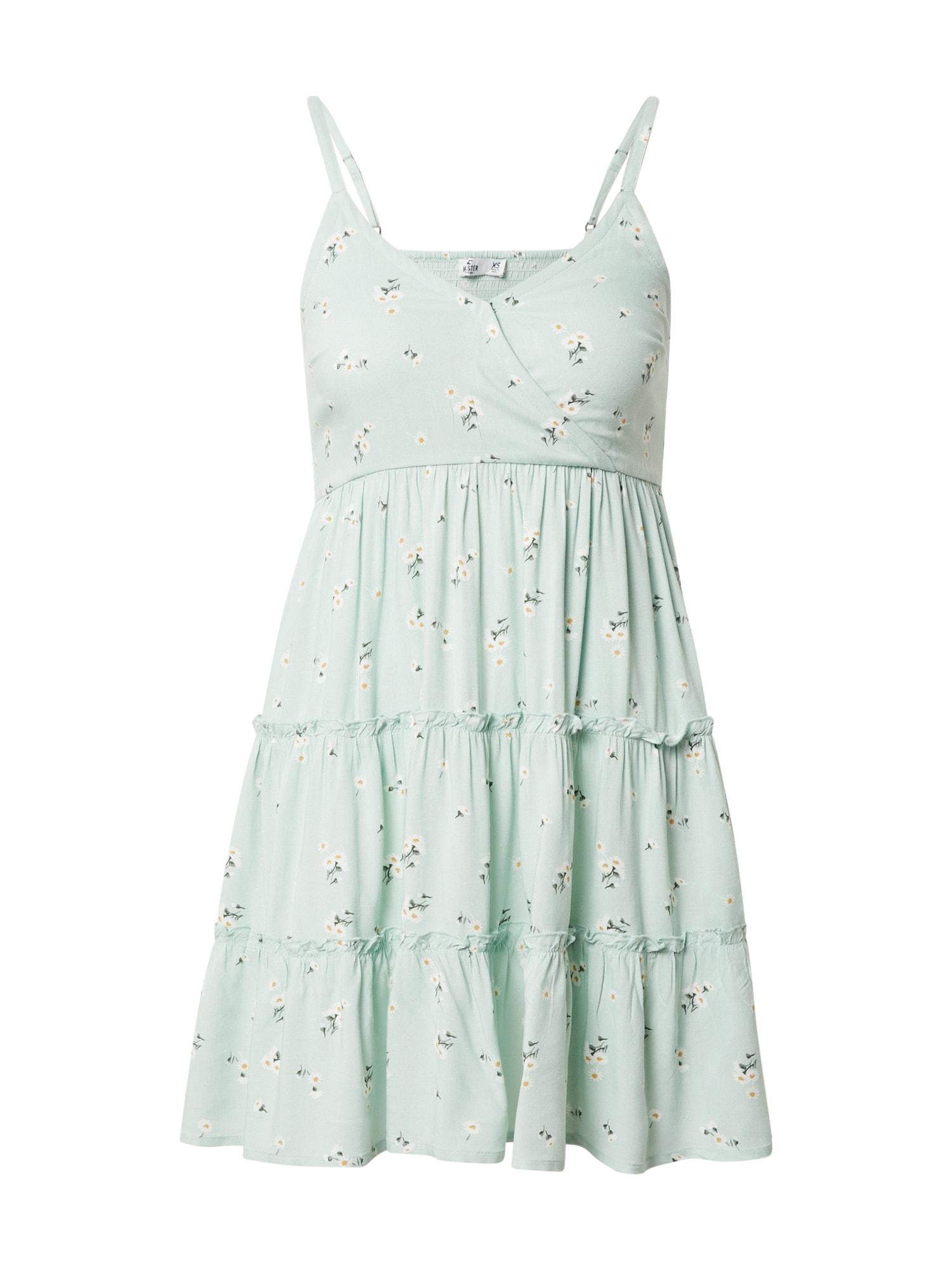 HOLLISTER Vasarinė suknelė mėtų spalva / geltona / balta