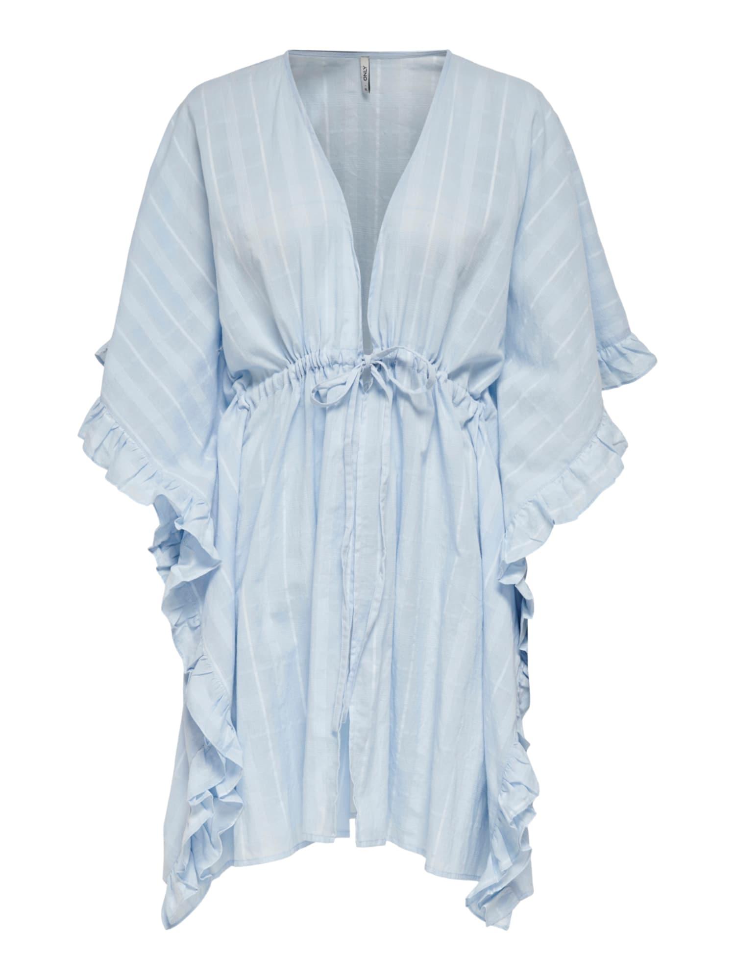 ONLY Paplūdimio suknelė 'Lirke' šviesiai mėlyna / balta