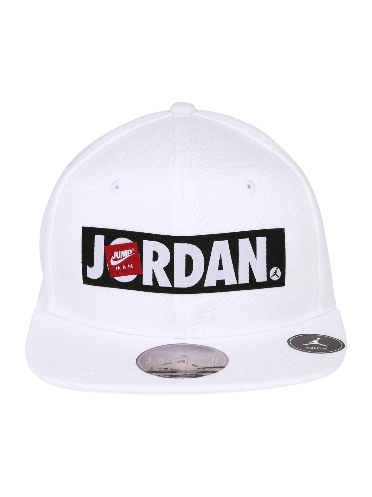 Jordan Skrybėlaitė balta / juoda / raudona / rausvai pilka