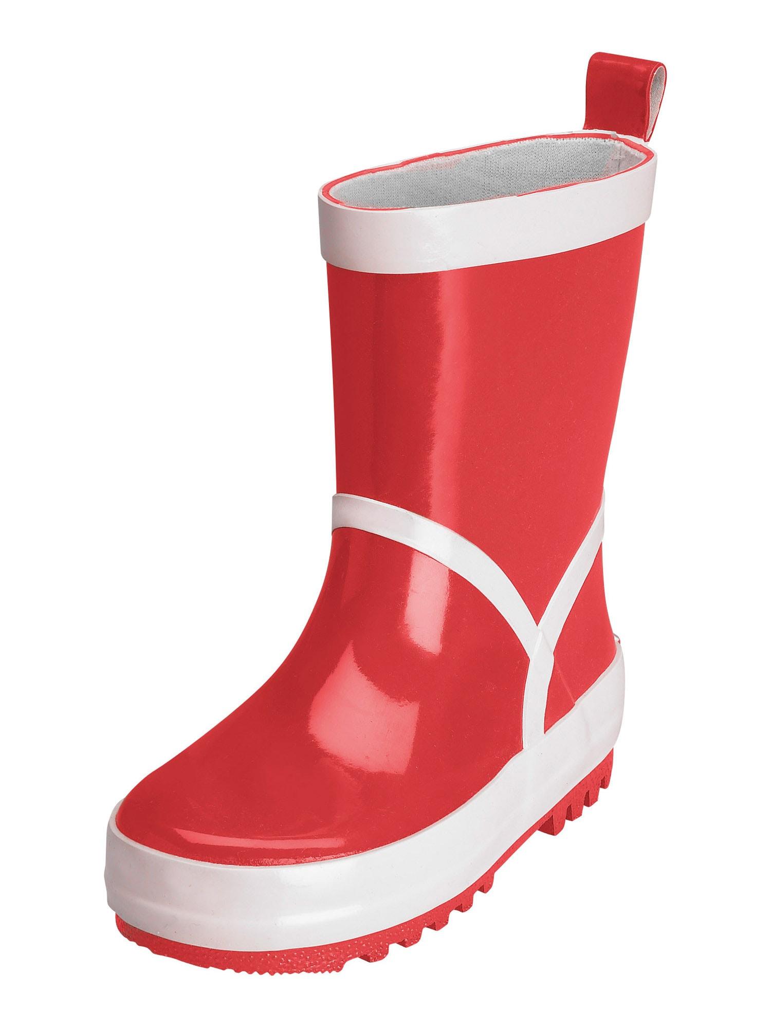 PLAYSHOES Guminiai batai raudona / balta