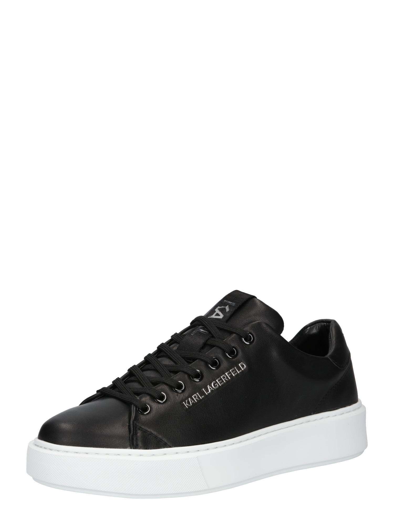 Karl Lagerfeld Nízke tenisky 'Maxi Kup'  čierna