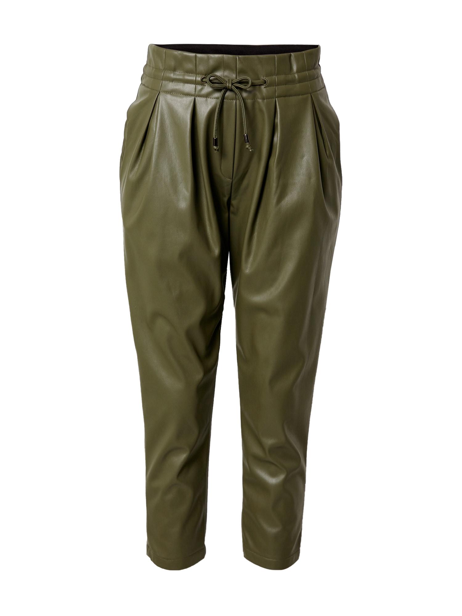 Karo Kauer Klostuotos kelnės rusvai žalia