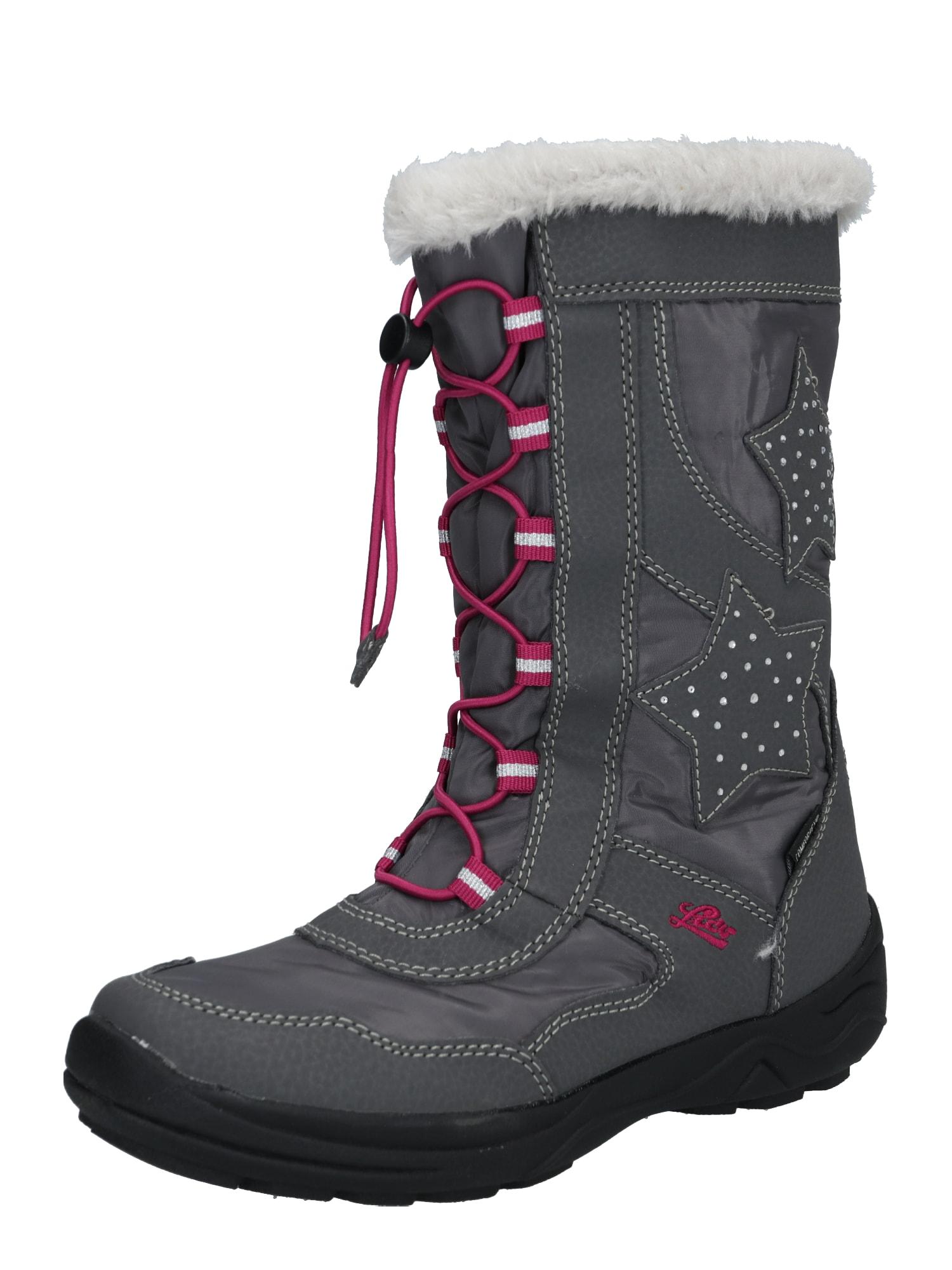 LICO Auliniai batai su kulniuku 'Cathrin' rožinė / pilka