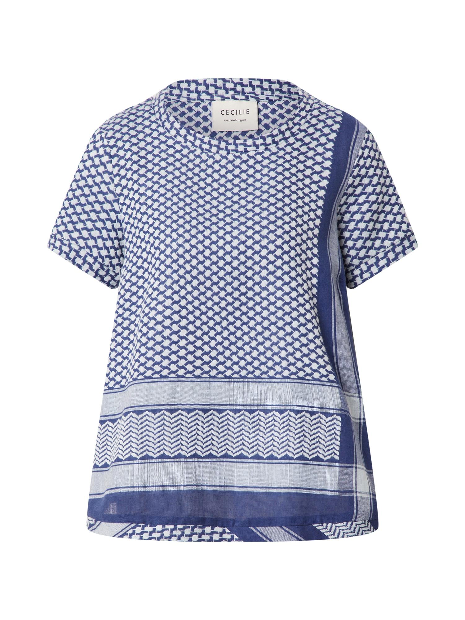 Cecilie Copenhagen Marškinėliai tamsiai mėlyna / balta