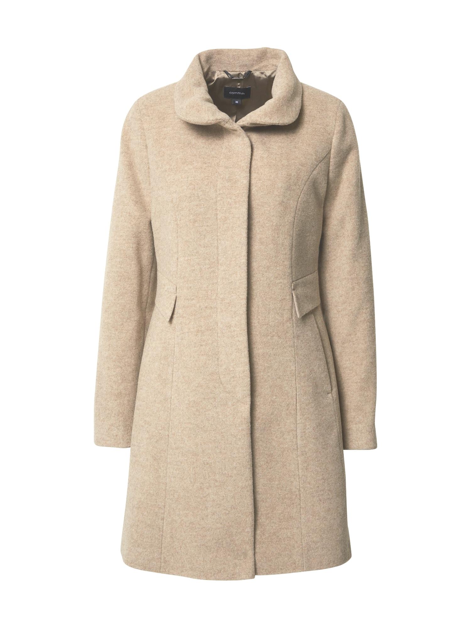 COMMA Žieminis paltas marga smėlio spalva