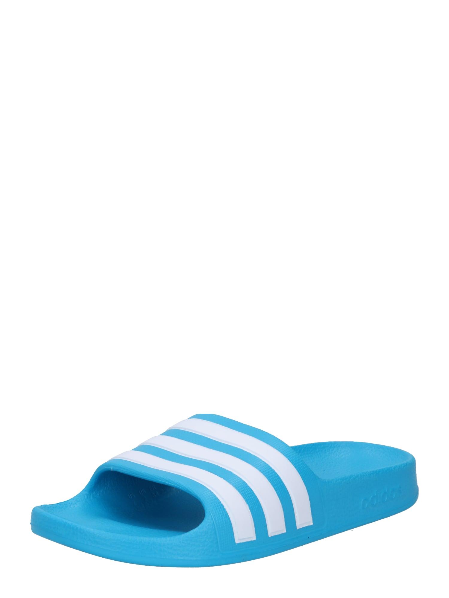 ADIDAS PERFORMANCE Sandalai / maudymosi batai 'ADILETTE' balta / vandens spalva