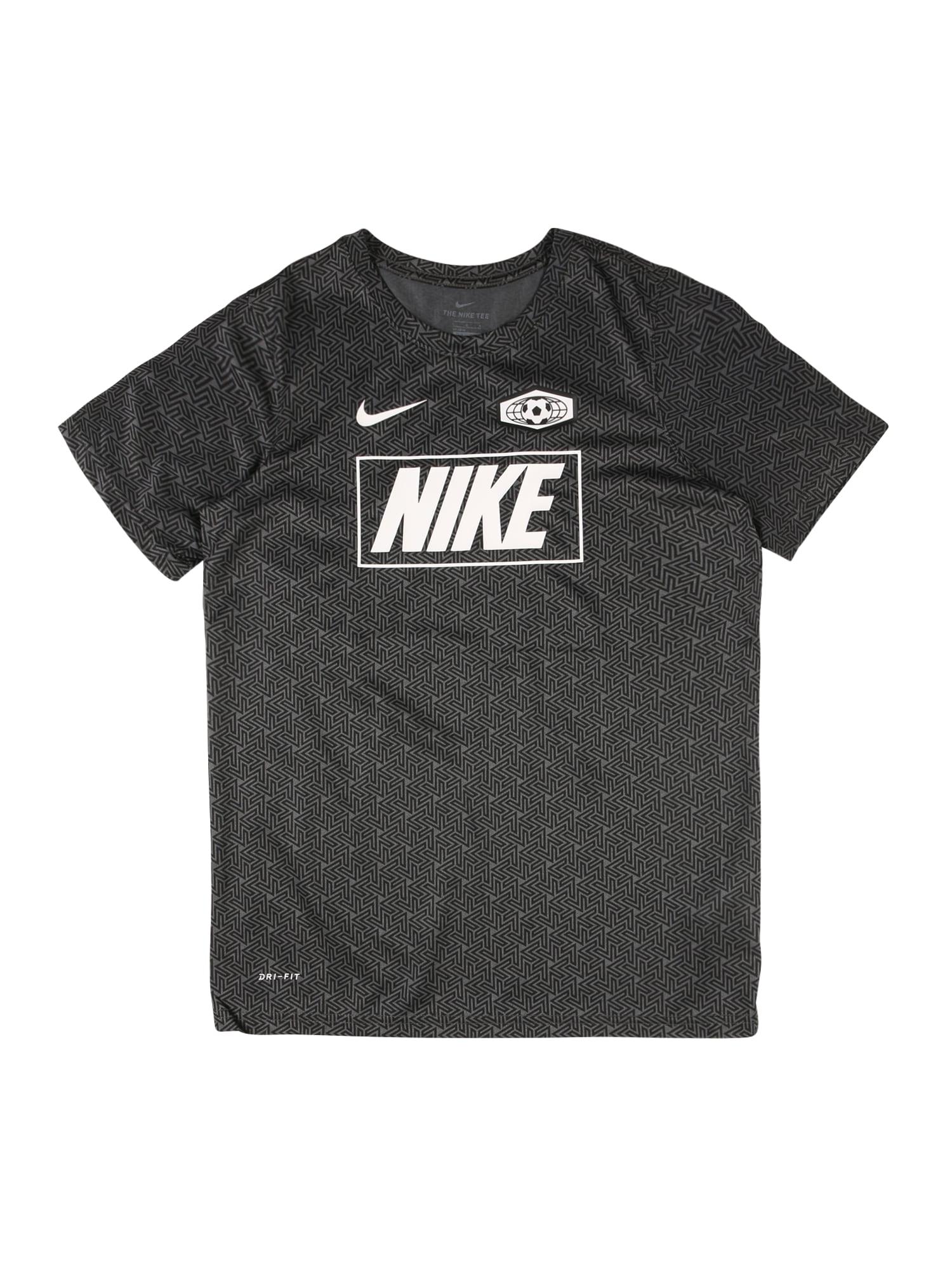 NIKE Funkční tričko  antracitová / bílá