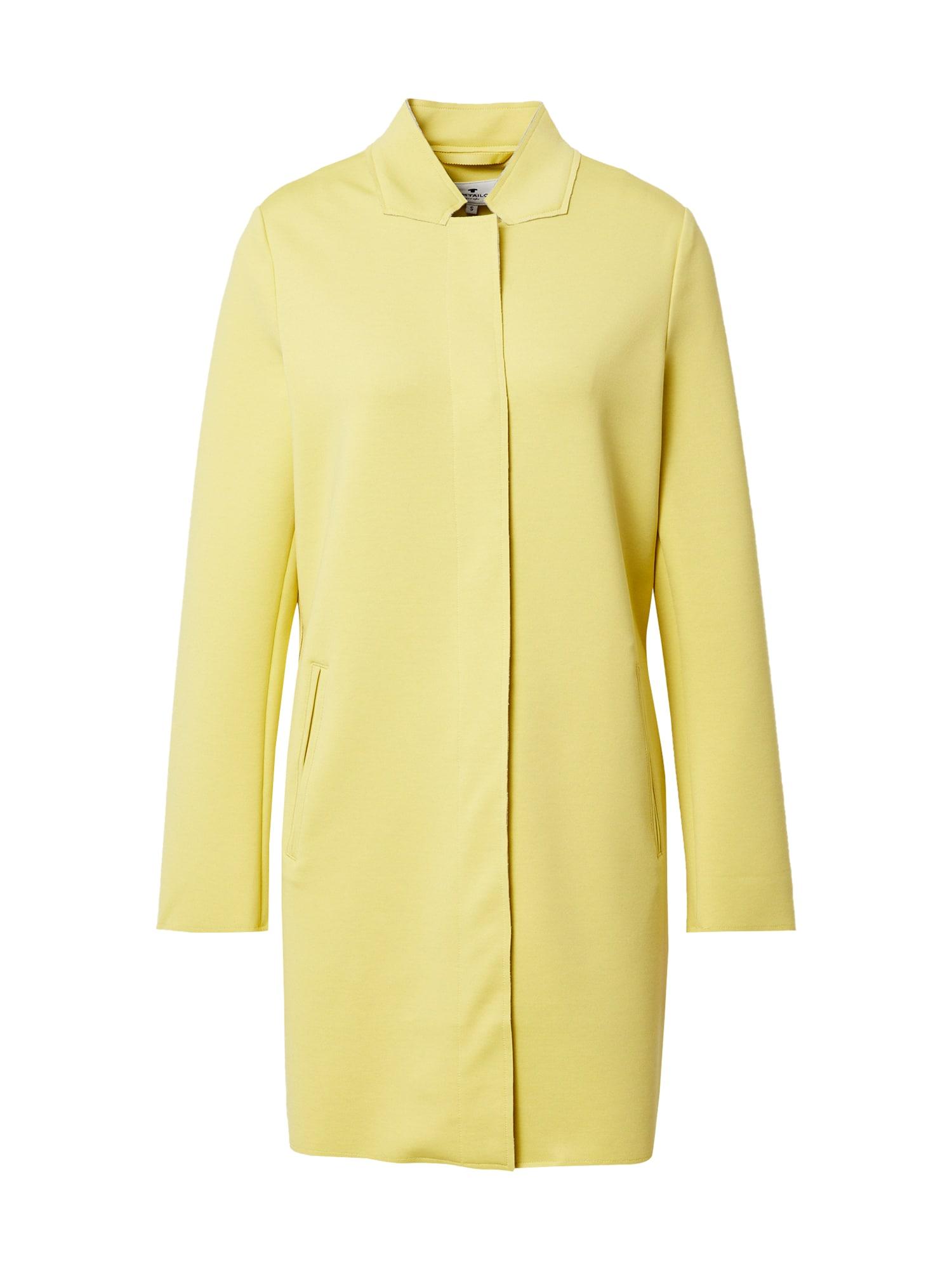TOM TAILOR Demisezoninis paltas geltona