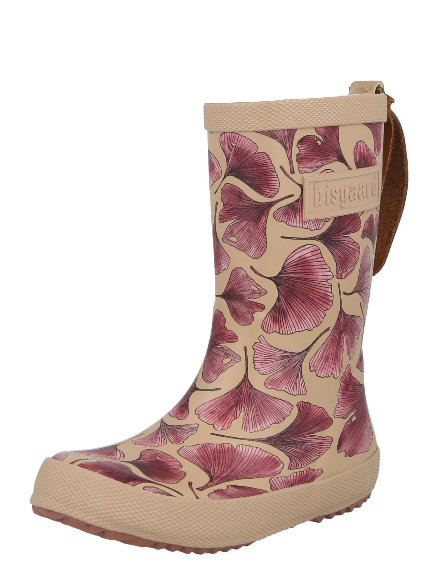 BISGAARD Guminiai batai vyšninė spalva / rožinė / kapučino spalva