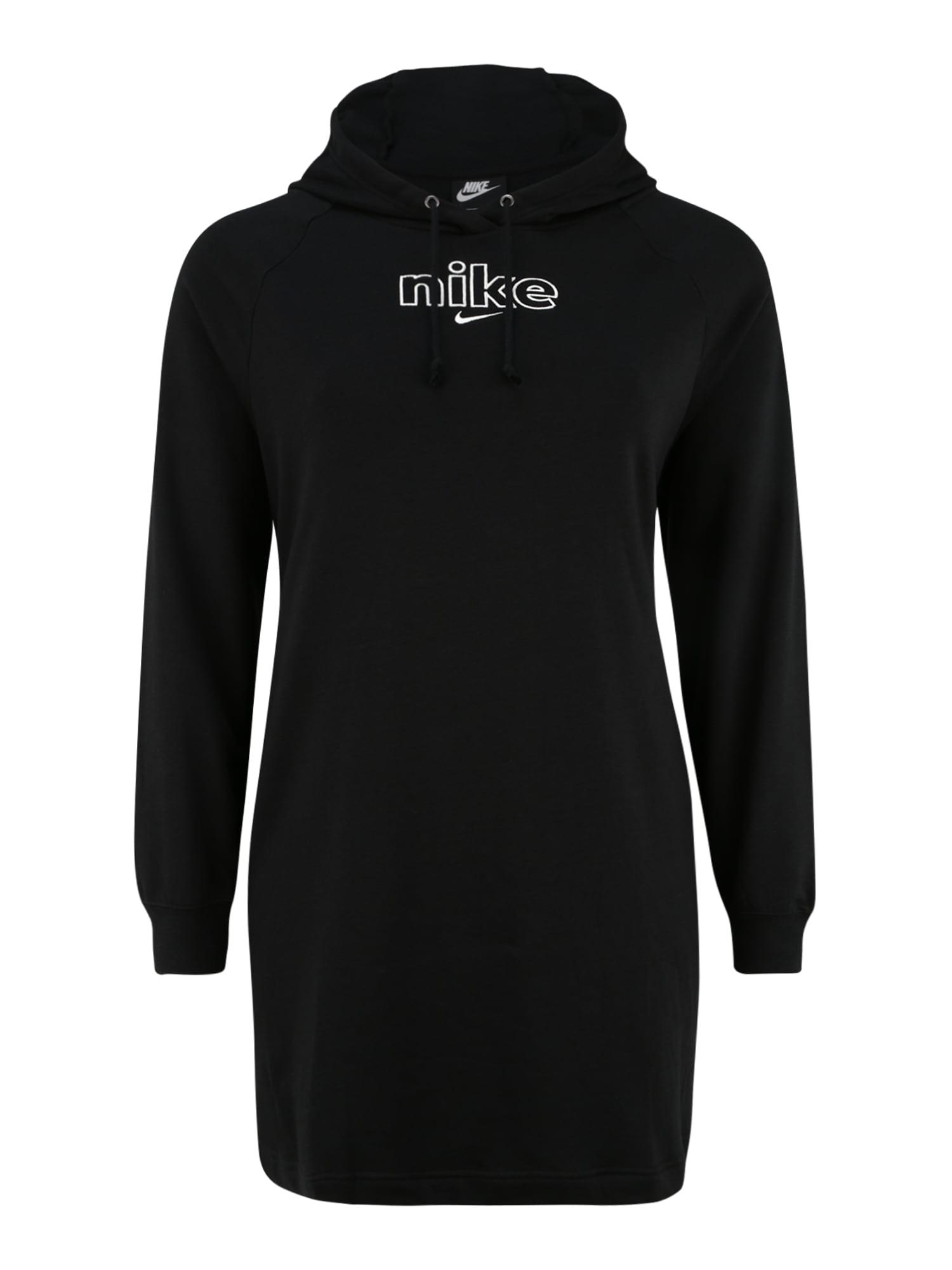 Nike Sportswear Suknelė juoda / balta