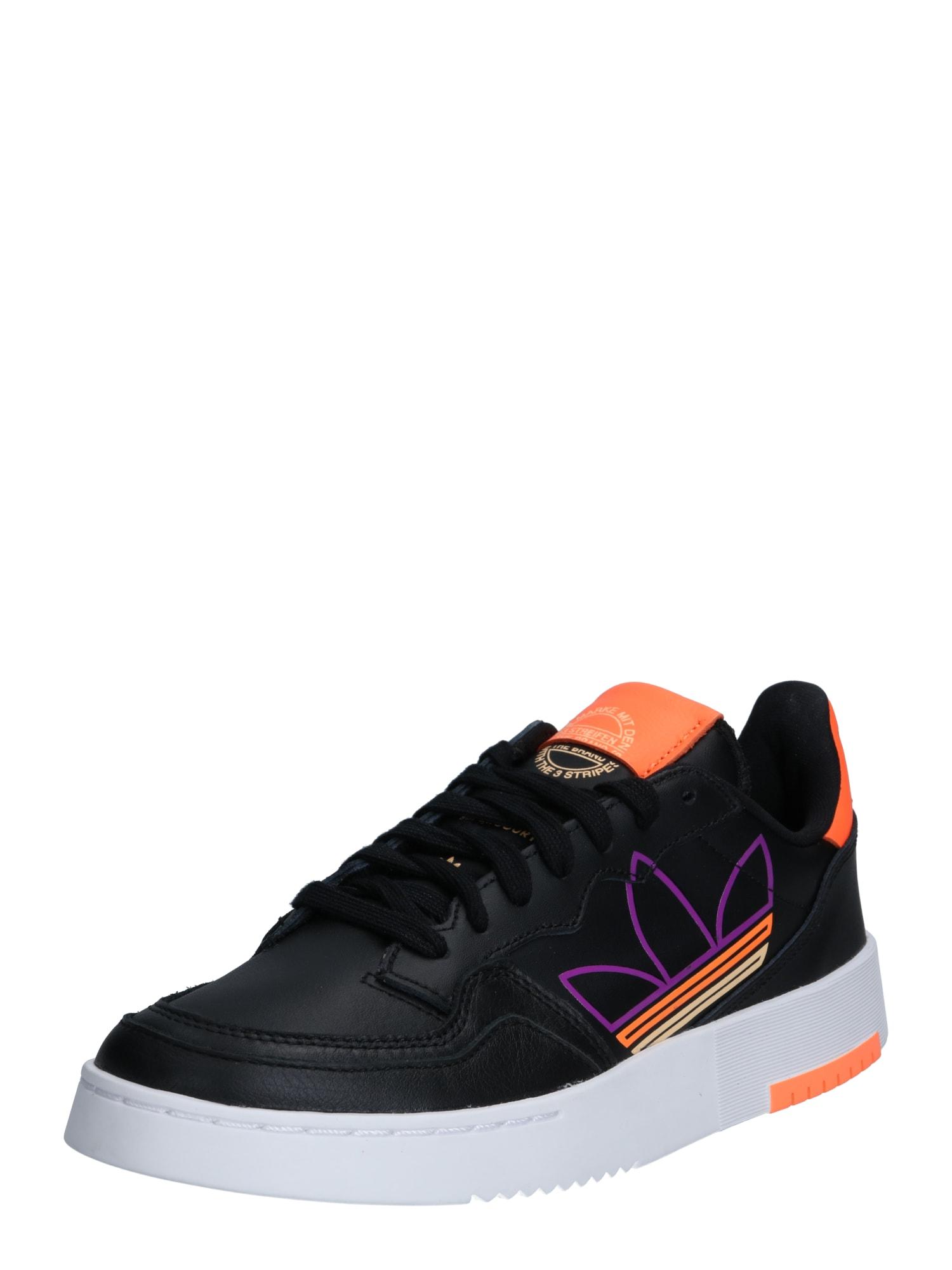 ADIDAS ORIGINALS Nízke tenisky 'SUPERCOURT'  čierna / oranžová / fialová