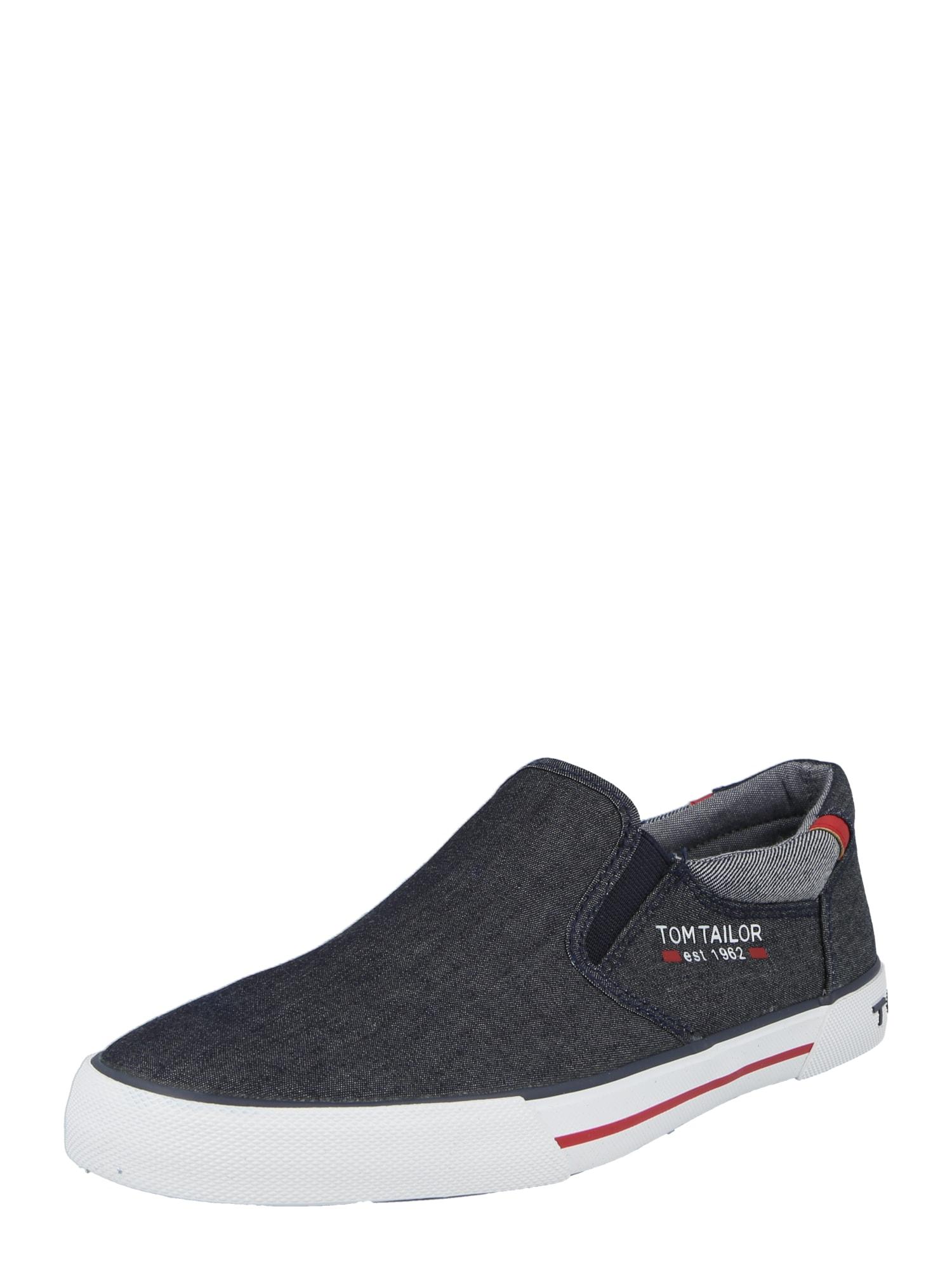 TOM TAILOR Slip on boty  tmavě modrá