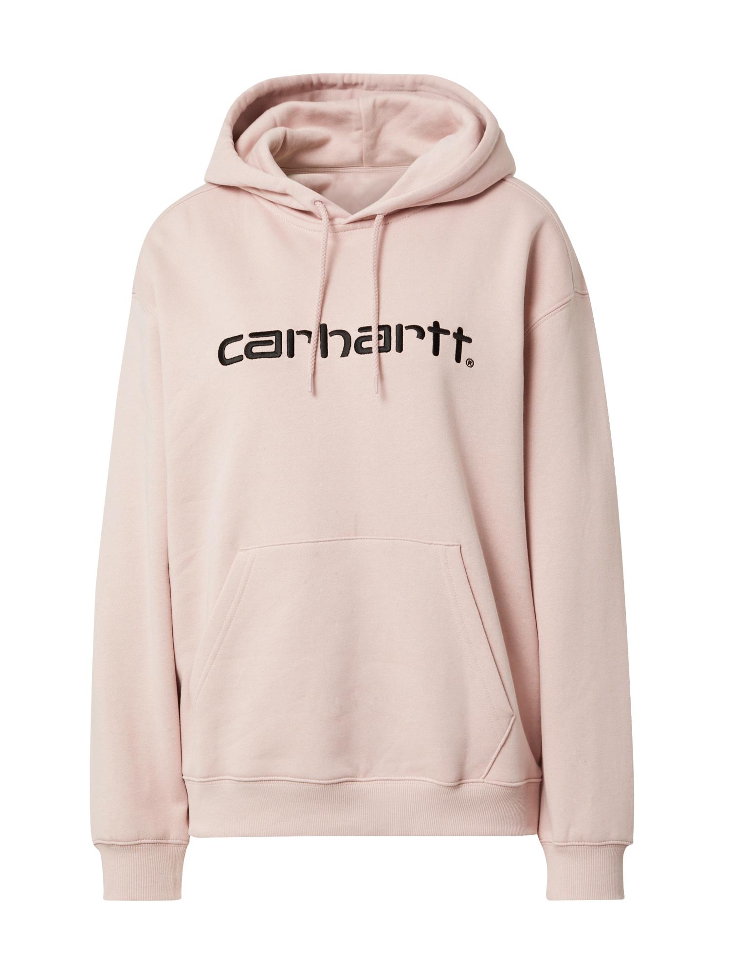 Carhartt WIP Mikina  růžová / černá