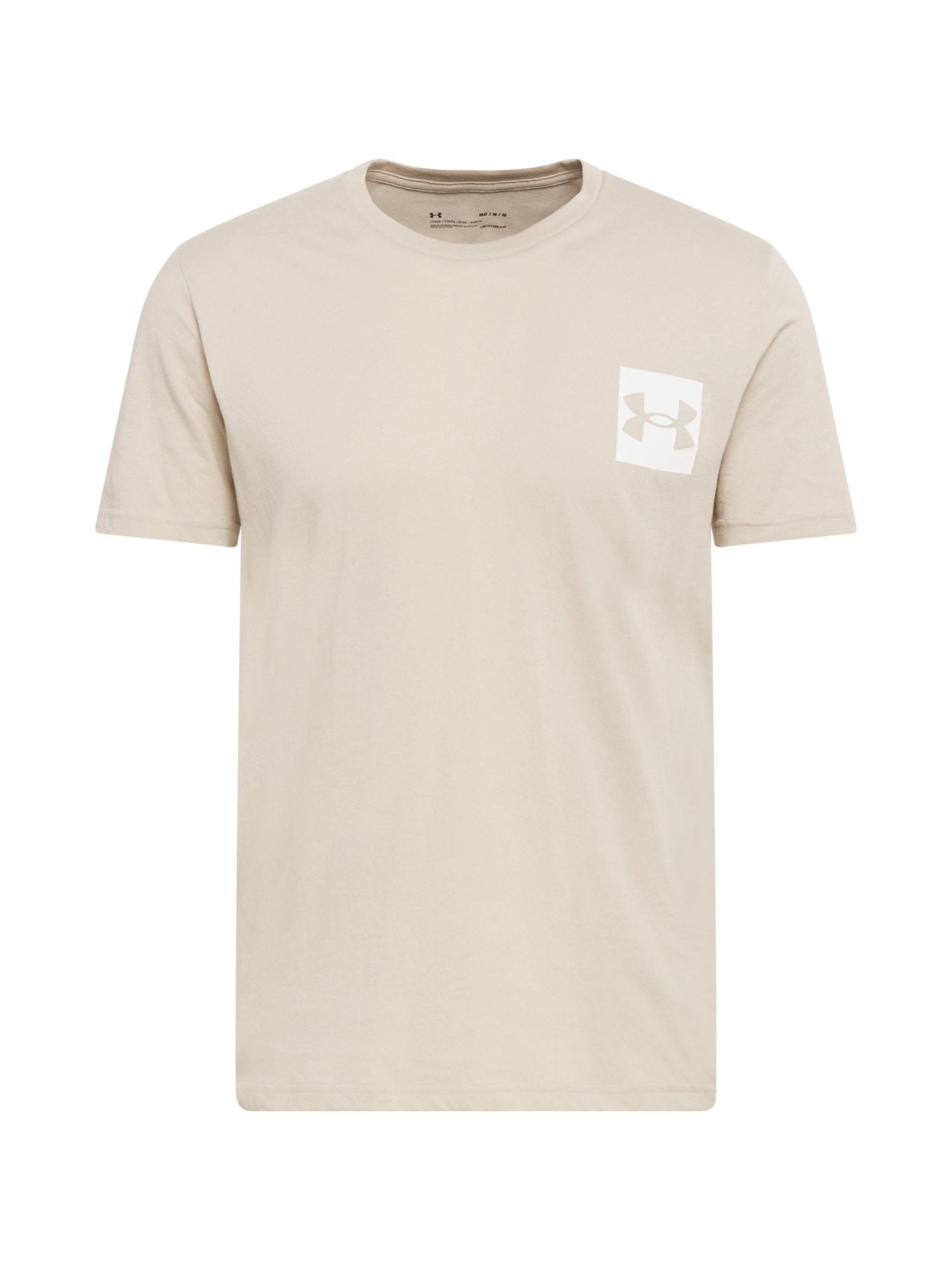 UNDER ARMOUR Funkční tričko  světle hnědá / bílá