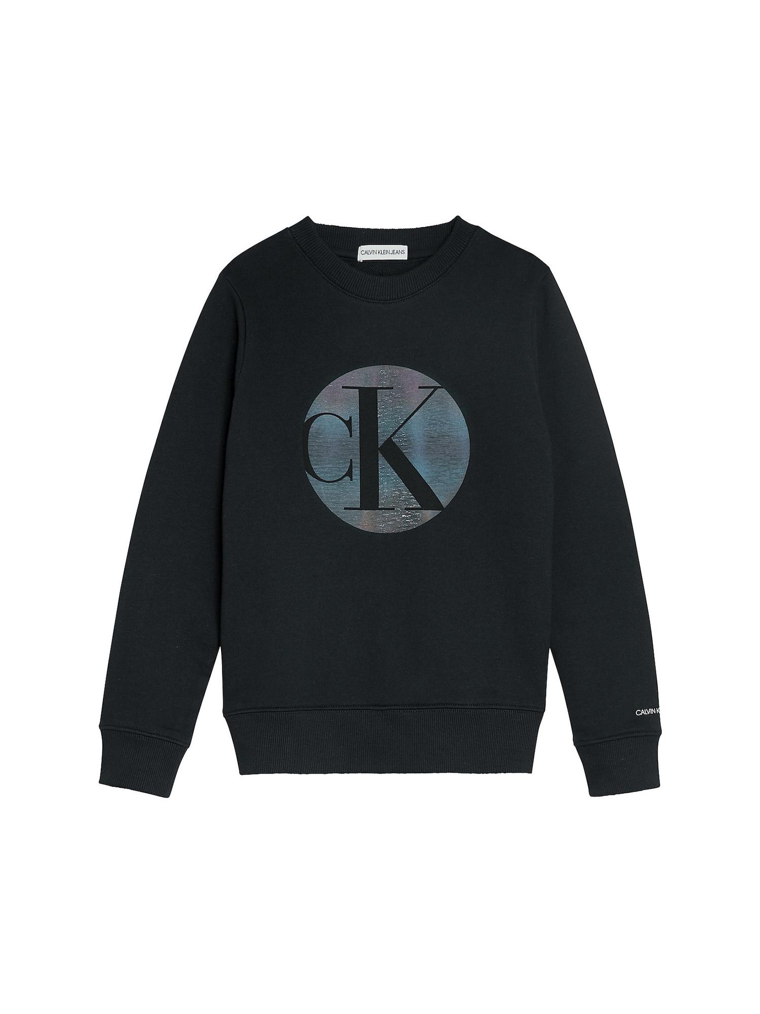 Calvin Klein Jeans Megztinis be užsegimo juoda / geltona / šviesiai mėlyna / rožinė