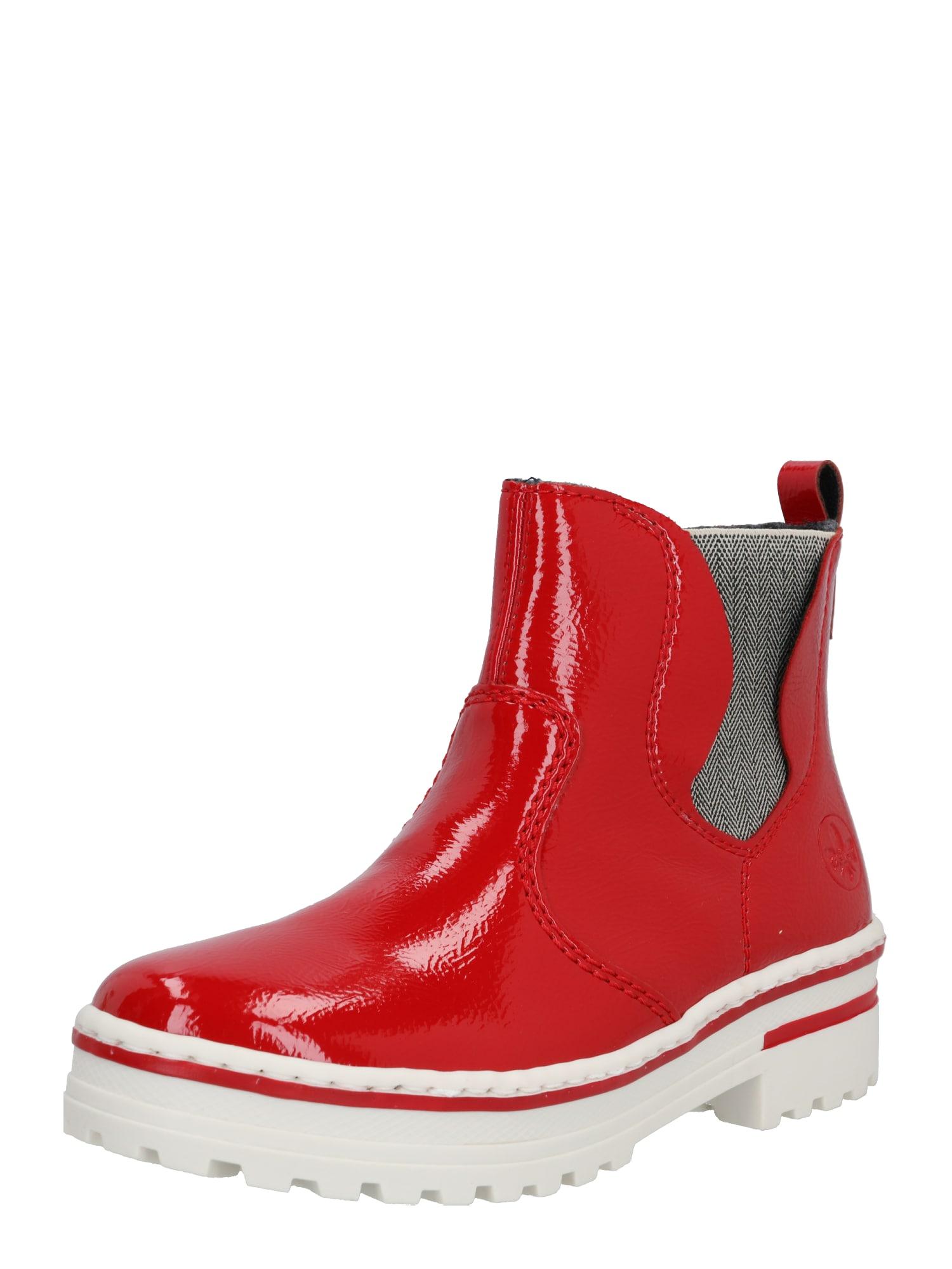 RIEKER Auliniai batai raudona / balta