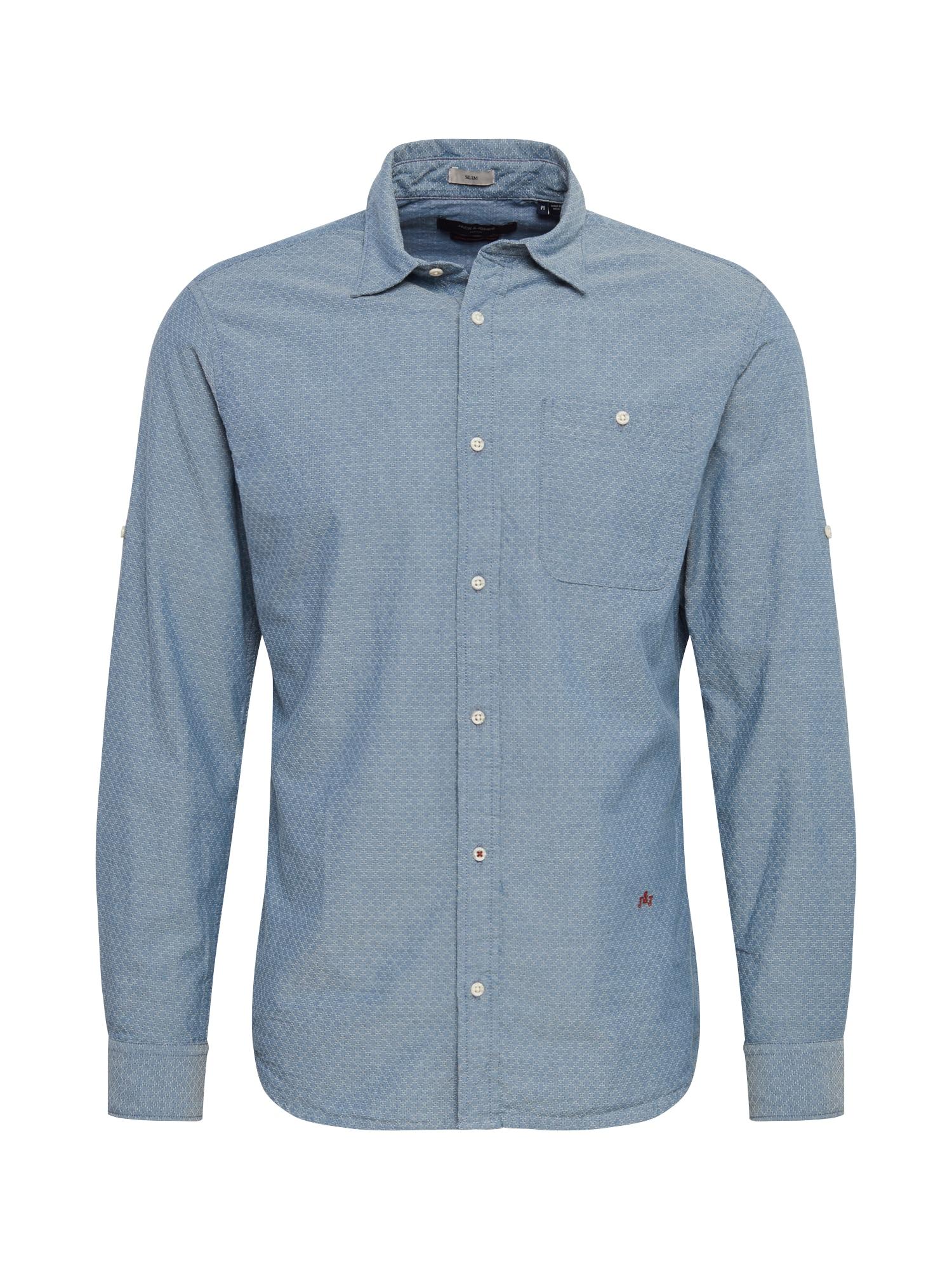 JACK & JONES Košile 'NICK'  kouřově modrá