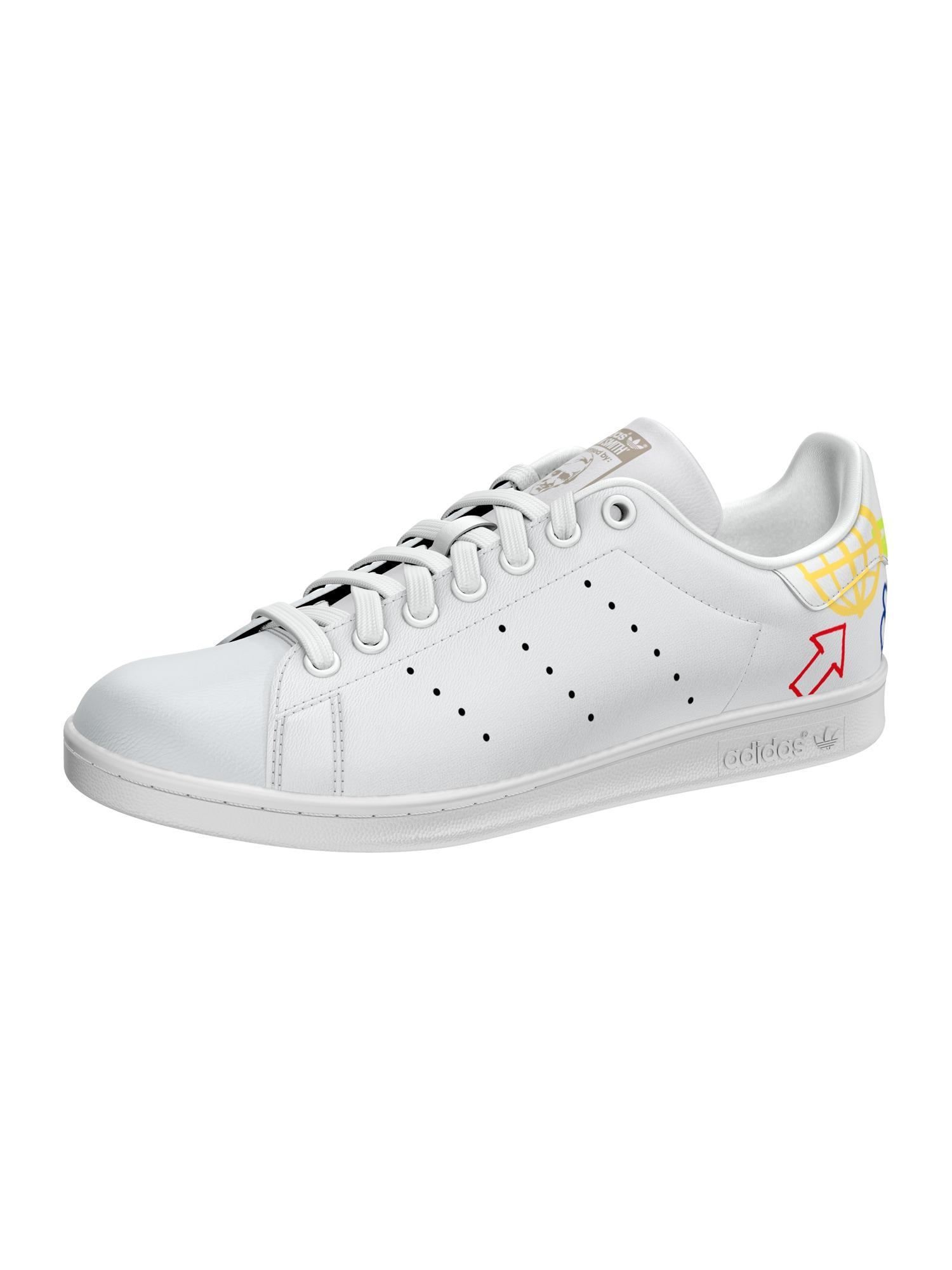 ADIDAS ORIGINALS Tenisky 'Stan Smith'  bílá / stříbrná / žlutá / modrá
