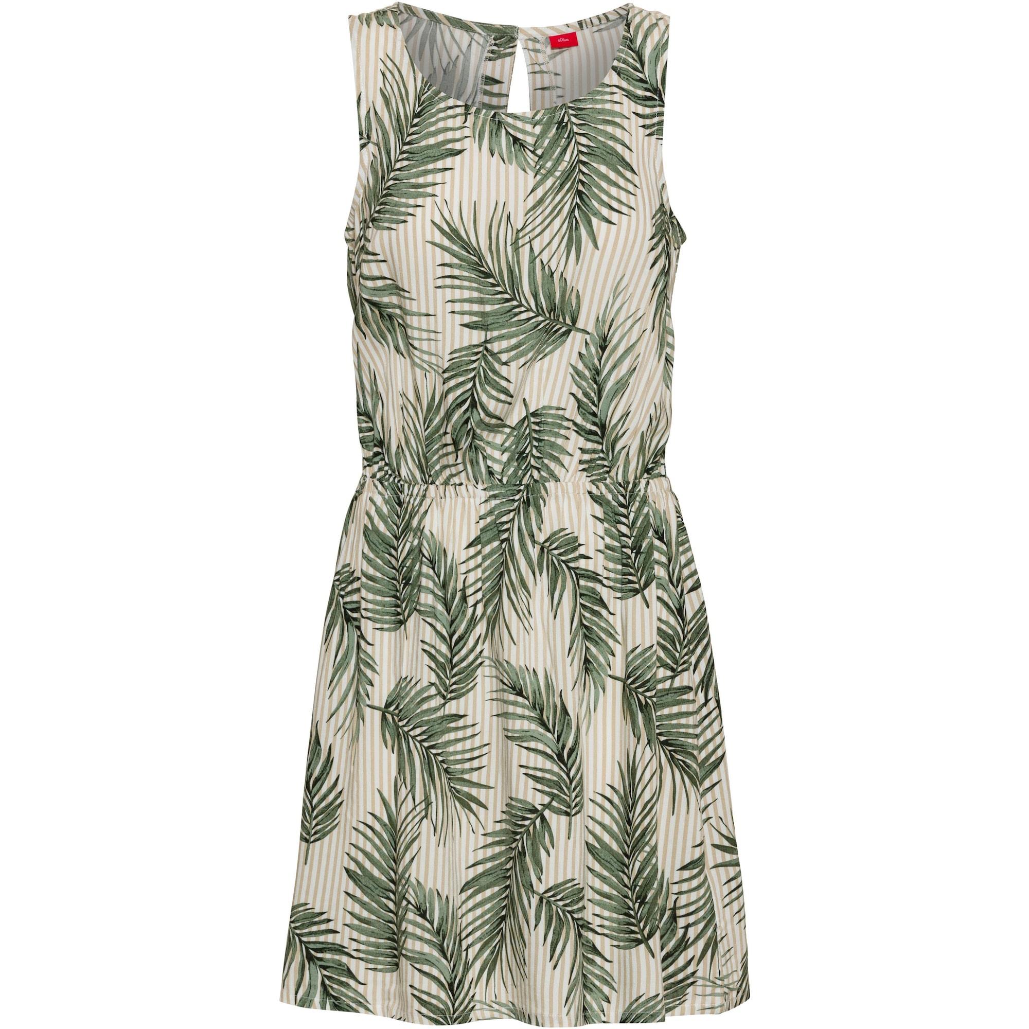 s.Oliver RED LABEL Suknelė balta / tamsiai žalia