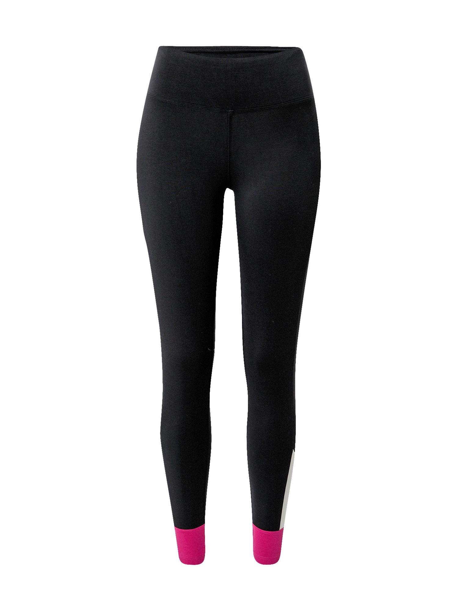 ESPRIT SPORT Sportinės kelnės juoda / balta / rožinė