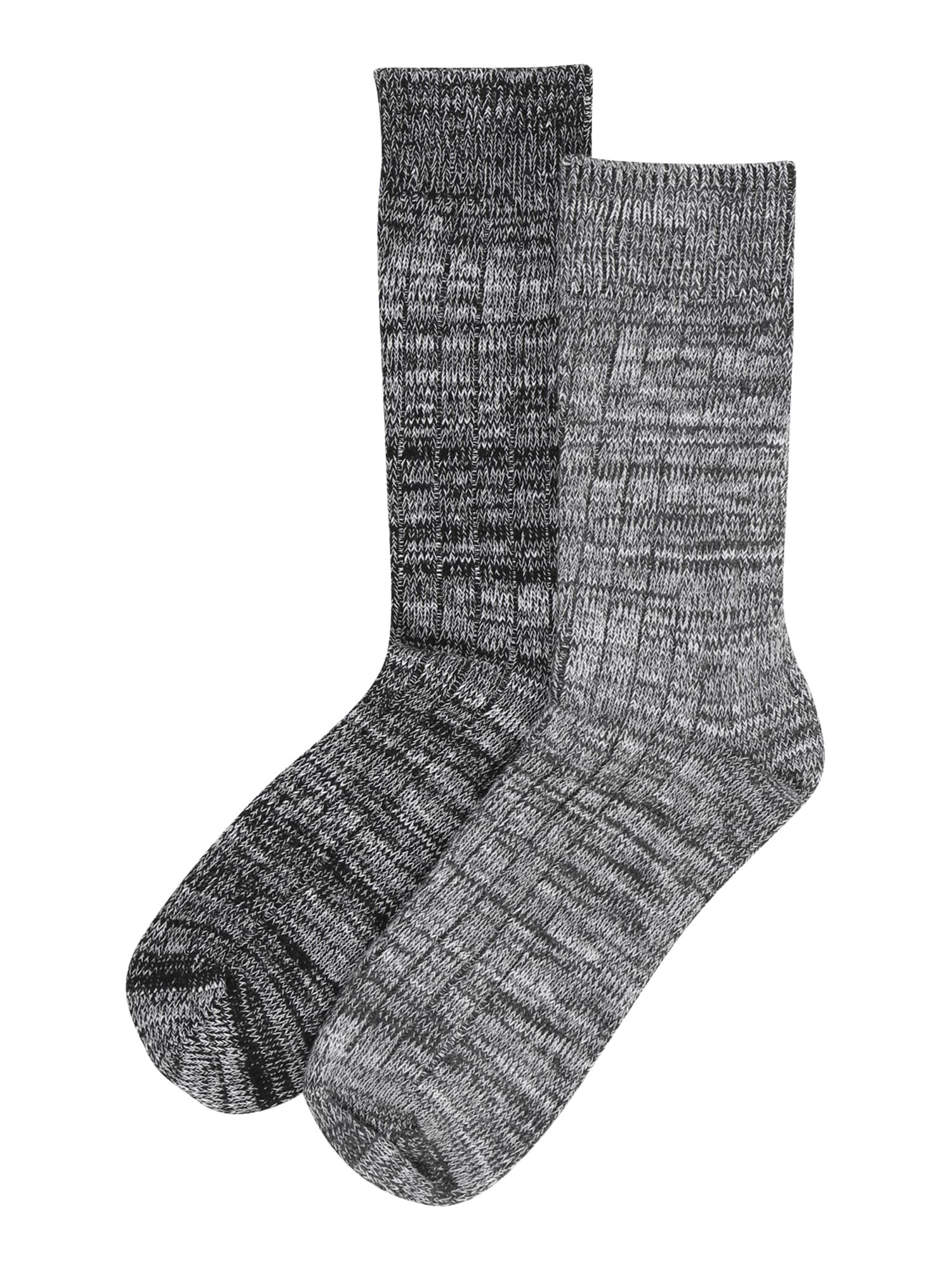 JACK & JONES Ponožky 'WINTER'  černá / šedá