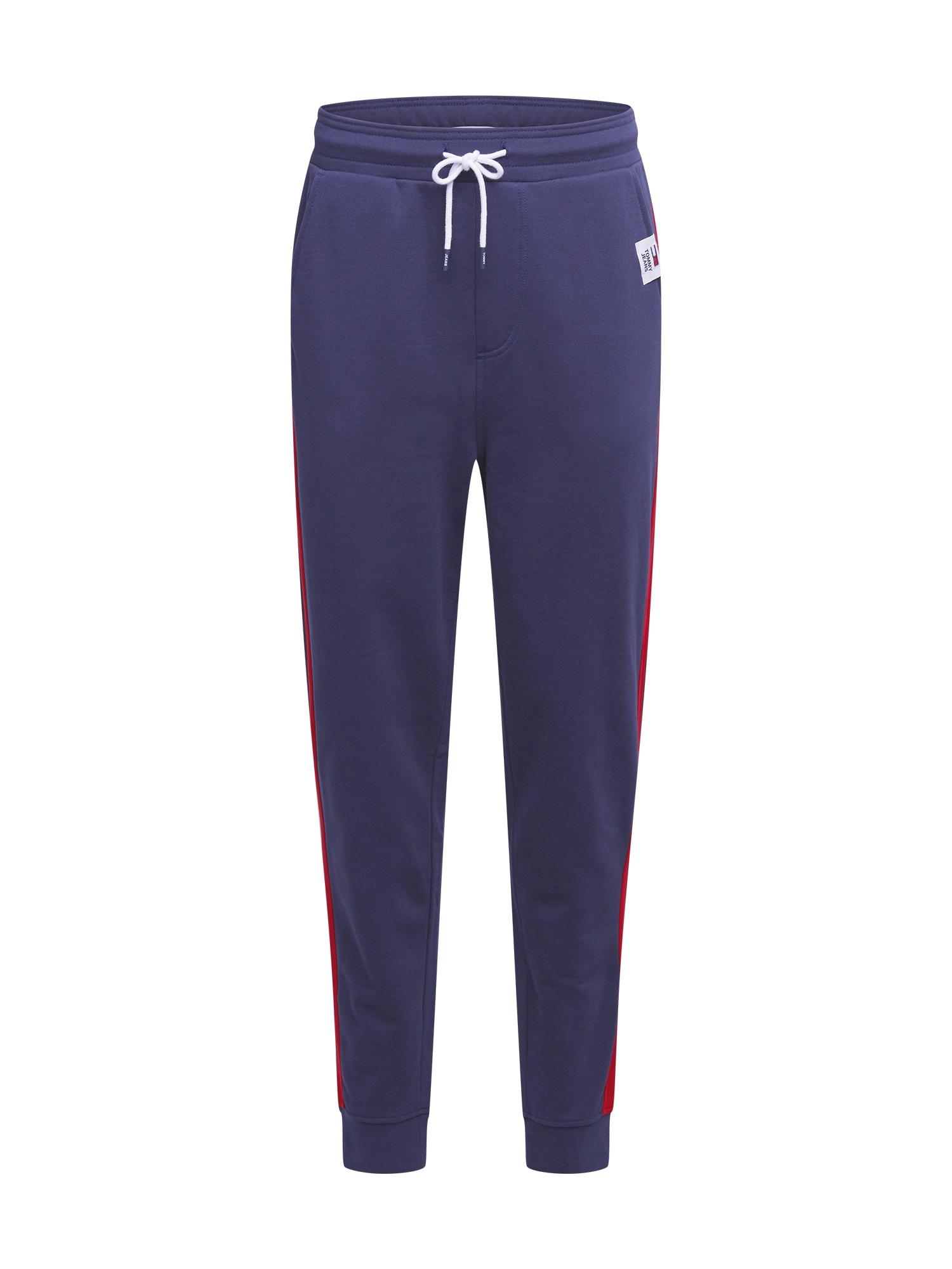 Tommy Jeans Sportovní kalhoty  námořnická modř / ohnivá červená