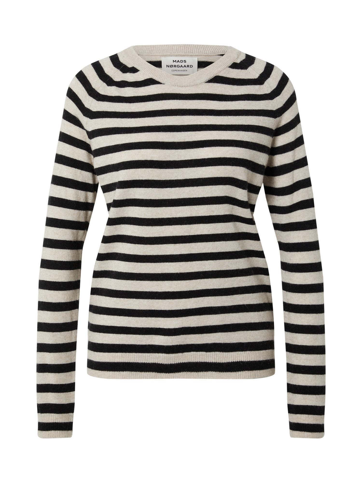 MADS NORGAARD COPENHAGEN Megztinis juoda / smėlio spalva