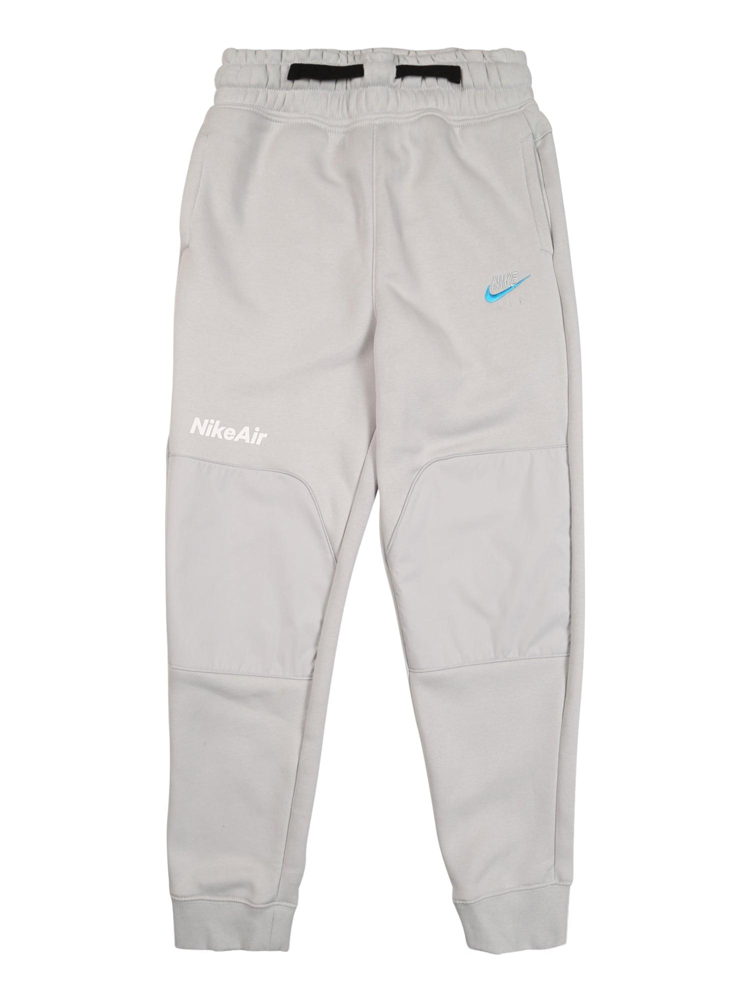 Nike Sportswear Kalhoty  světle šedá / černá / bílá / tyrkysová