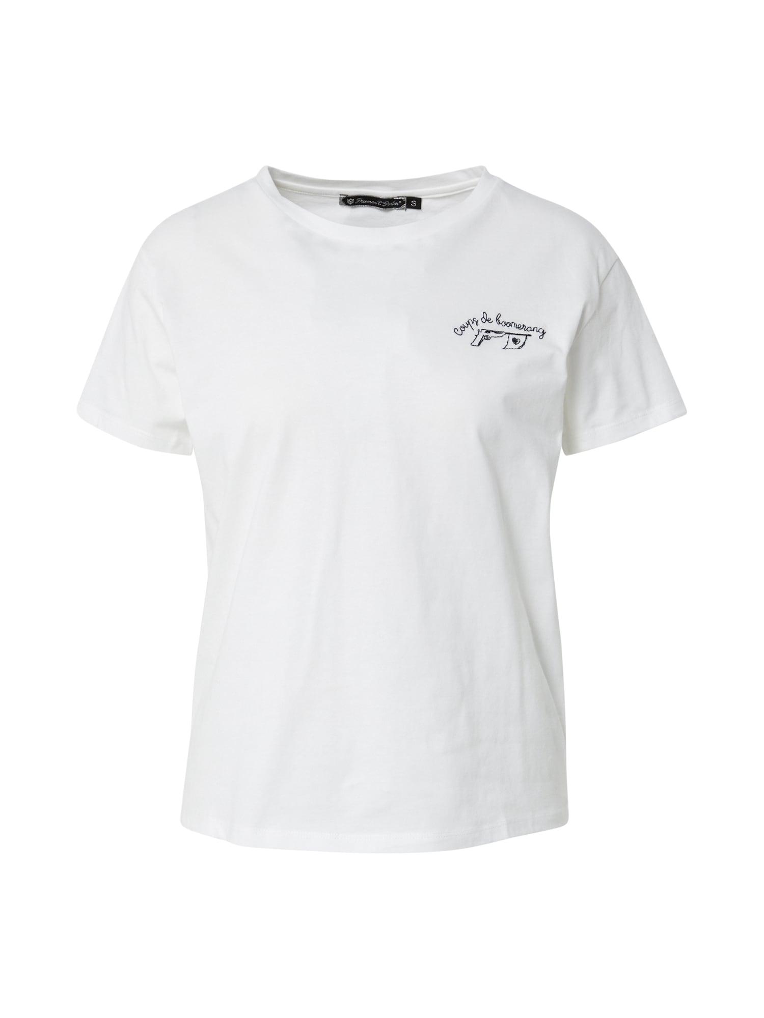 FREEMAN T. PORTER Marškinėliai balta / juoda
