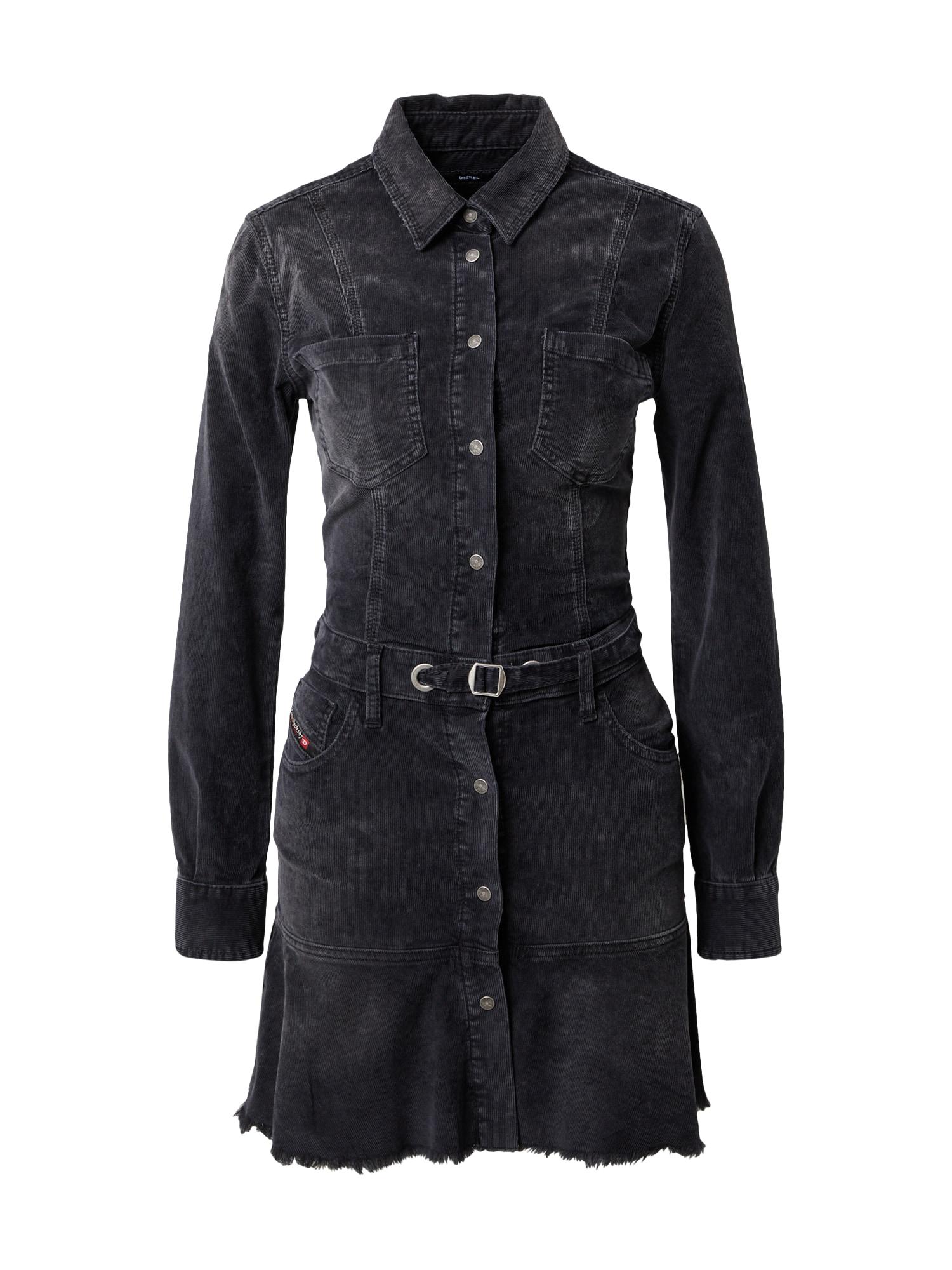 DIESEL Palaidinės tipo suknelė juoda