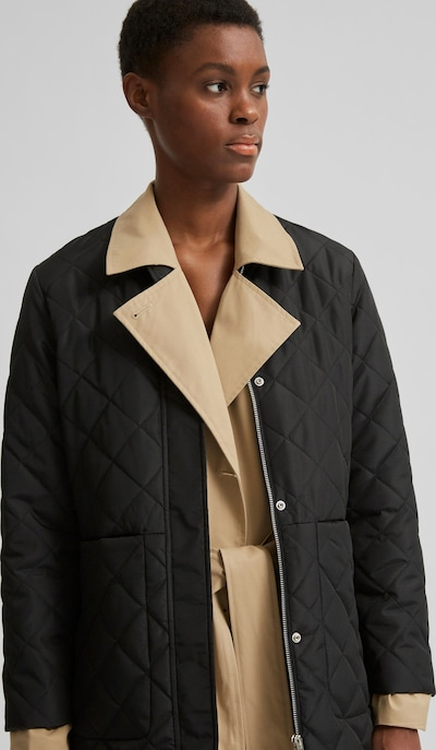 Selected Femme Fillipa Petite Quilted Mid Length Coat