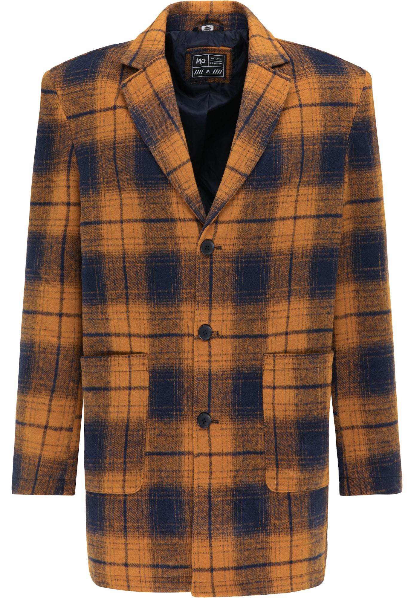 MO Demisezoninis paltas tamsiai pilka / oranžinė