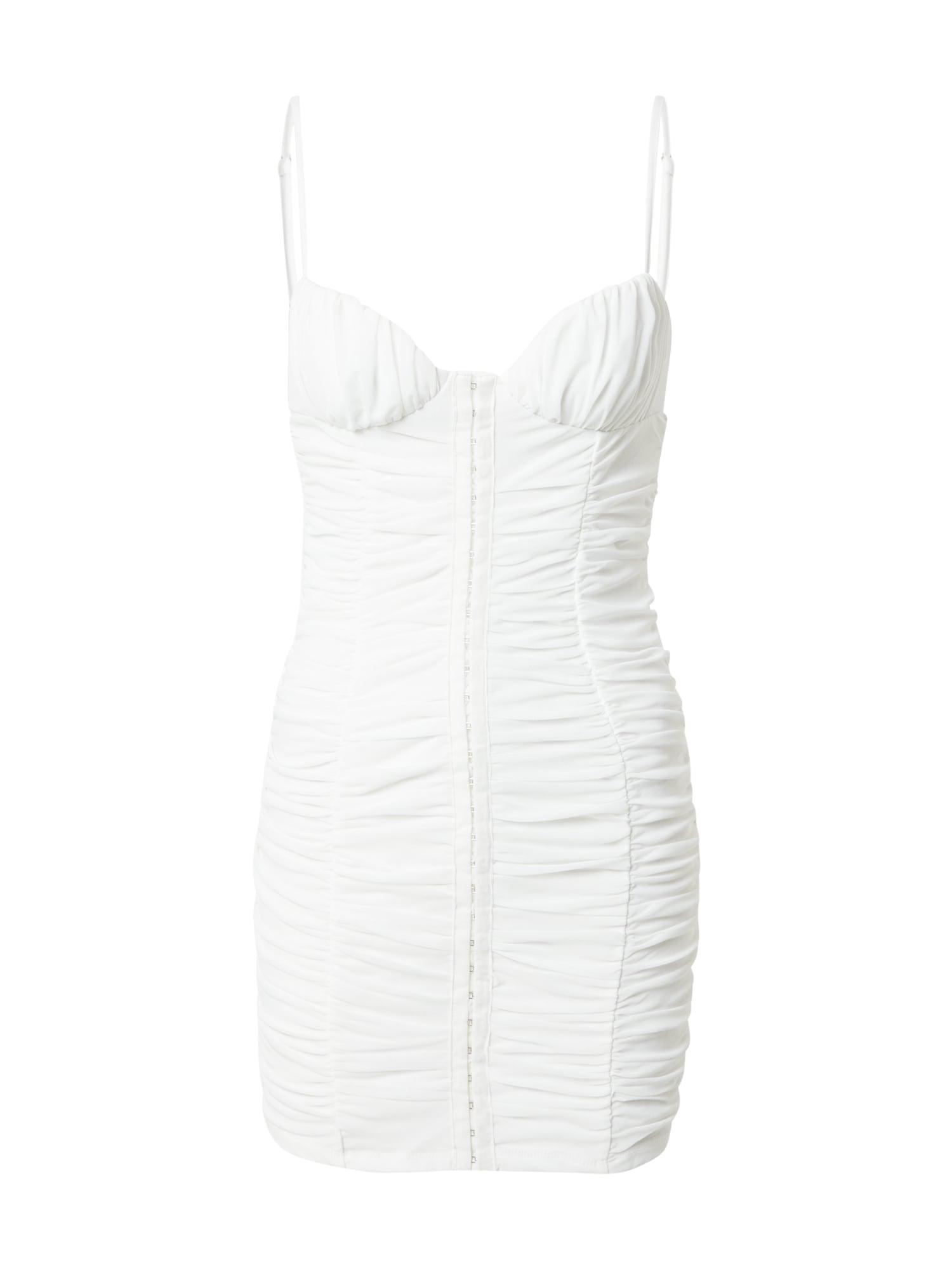 Love Triangle Kokteilinė suknelė balta