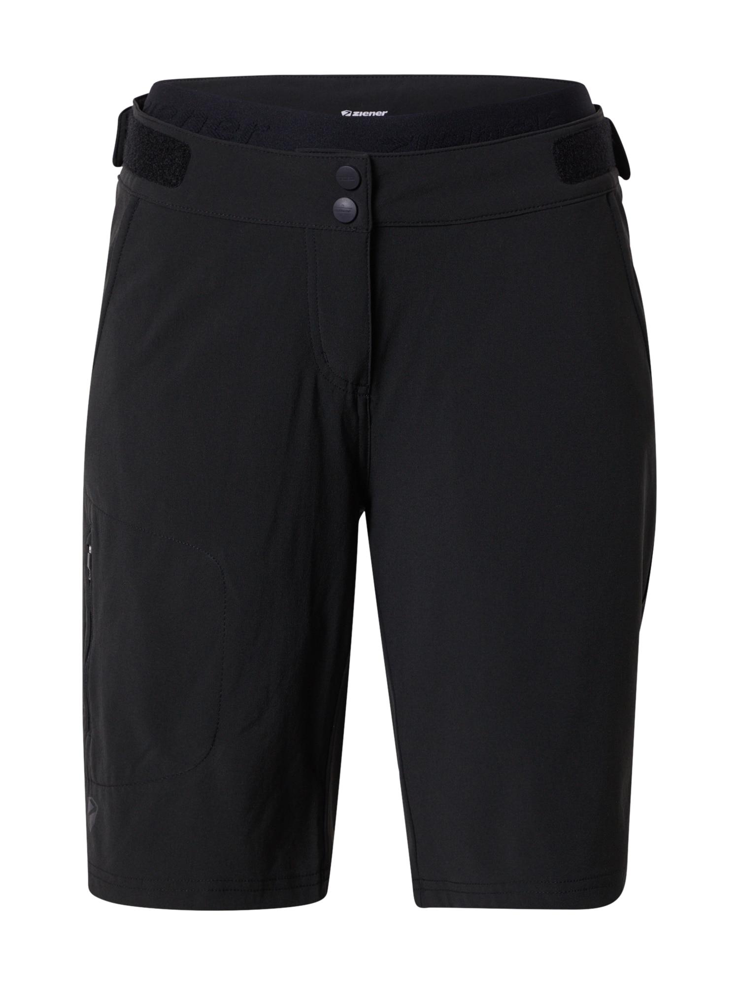 ZIENER Sportovní kalhoty 'NIVIA X-FUNCTION'  černá