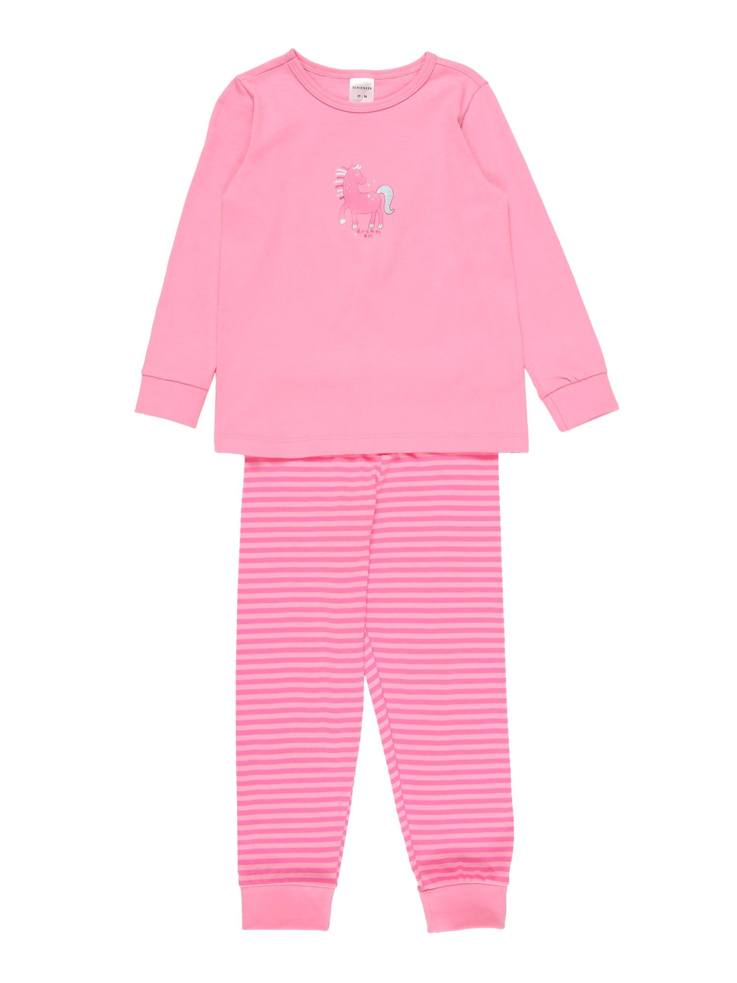SCHIESSER Miego kostiumas rožinė / šviesiai rožinė