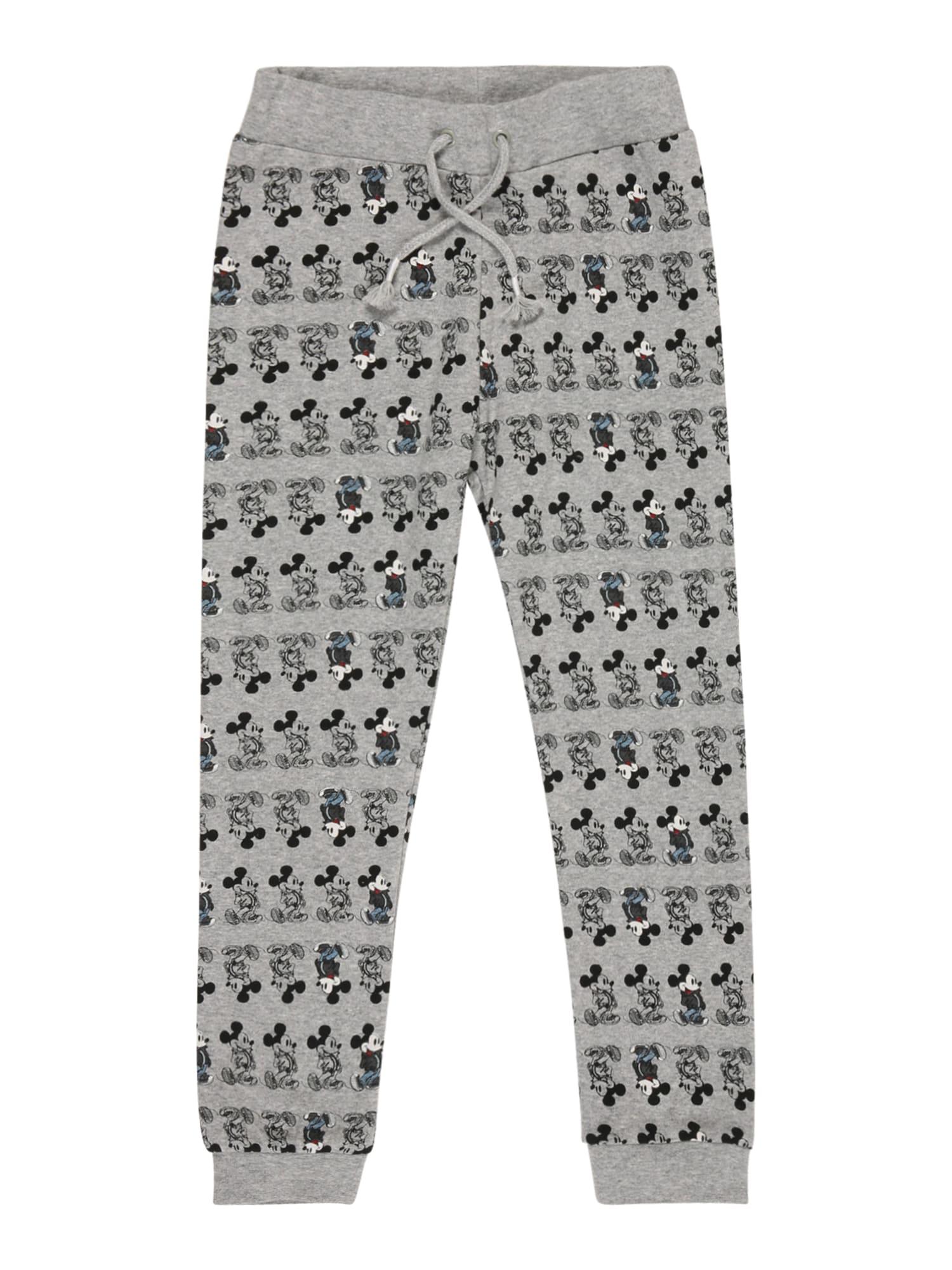 NAME IT Kalhoty 'MICKEY'  šedý melír / černá