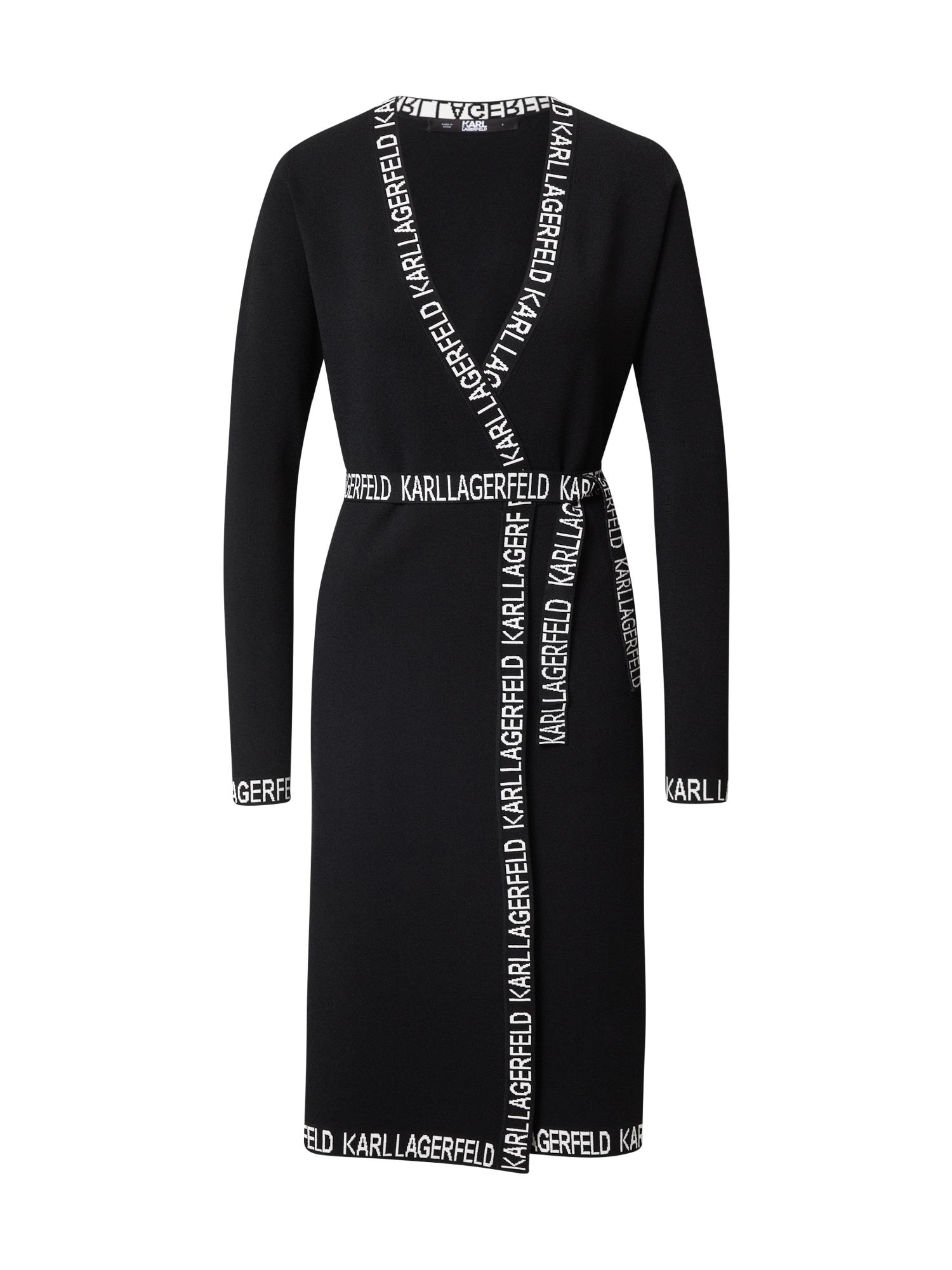 Karl Lagerfeld Suknelė juoda / balta