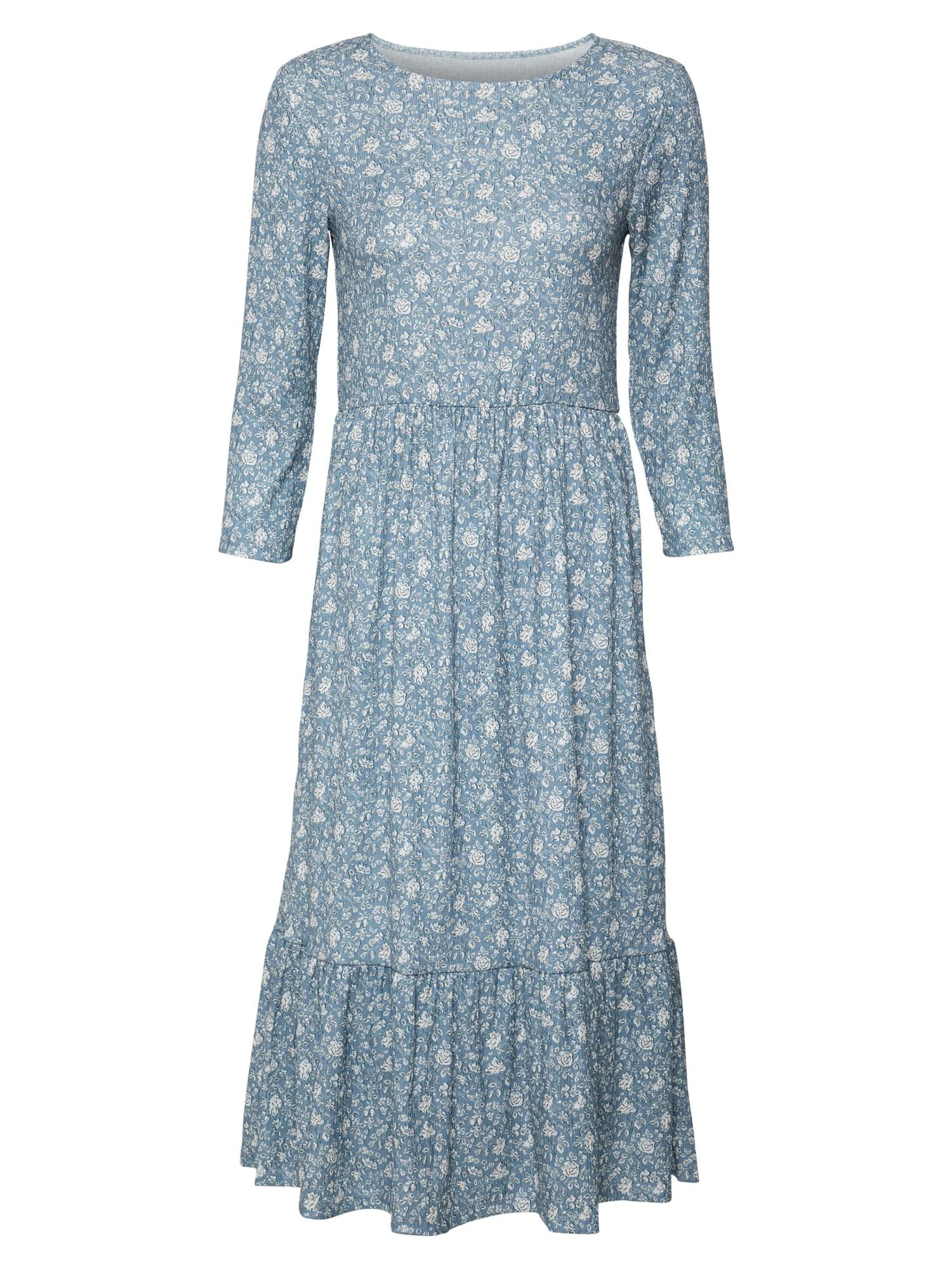 Rich & Royal Šaty  kouřově modrá / bílá