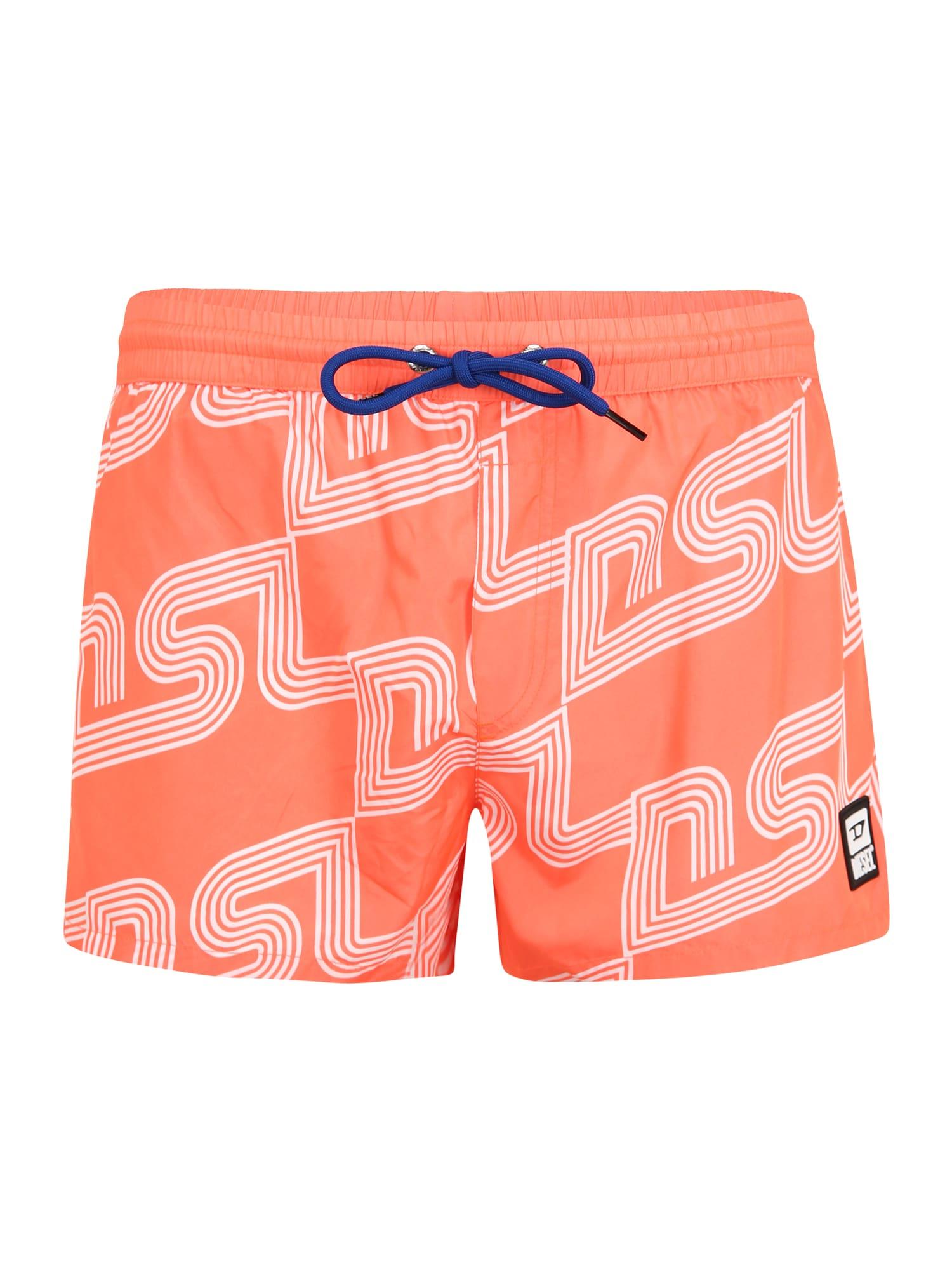 DIESEL Plavecké šortky 'SANDY'  oranžová / biela