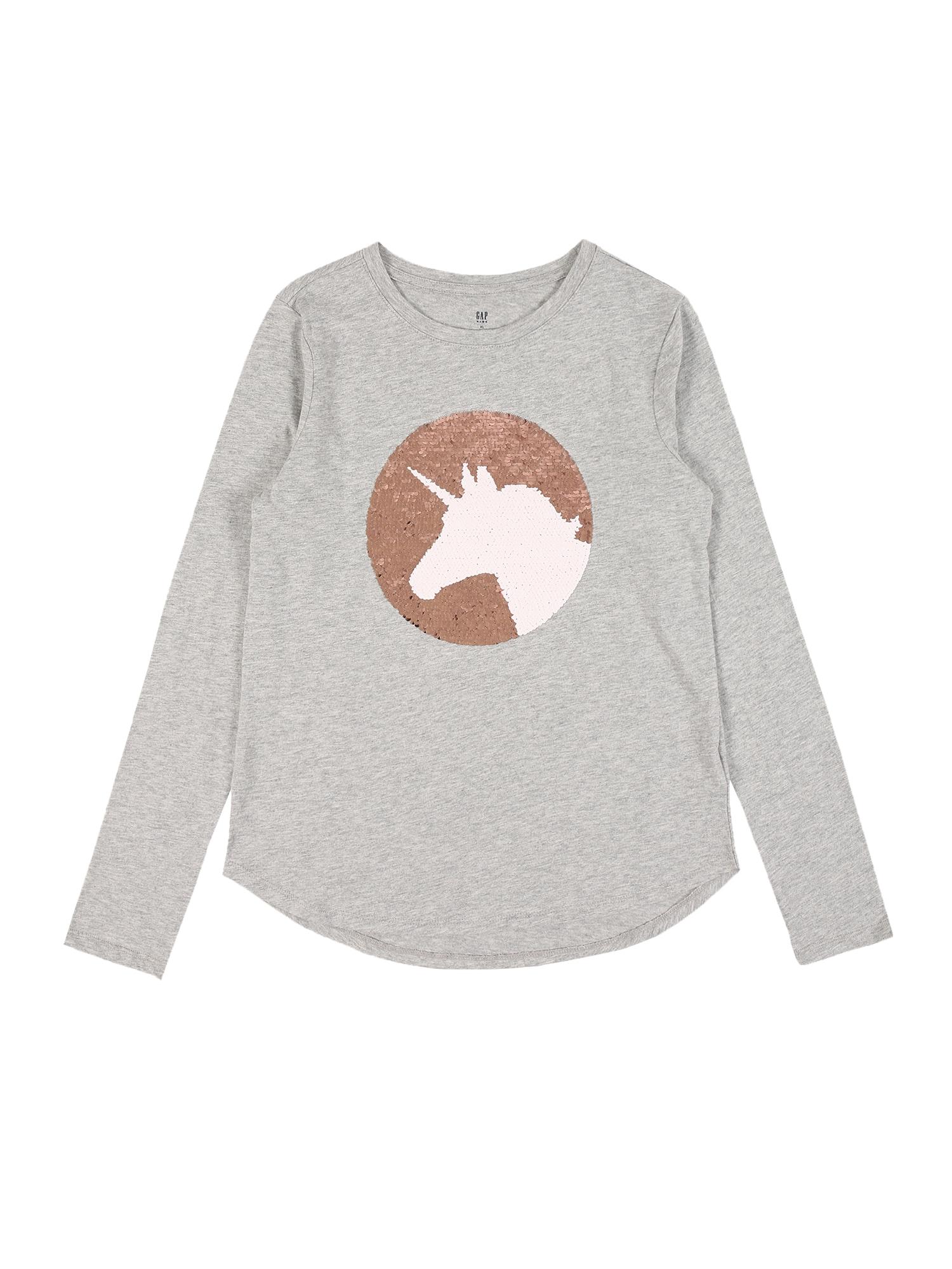 GAP Marškinėliai margai pilka / ruda / balta