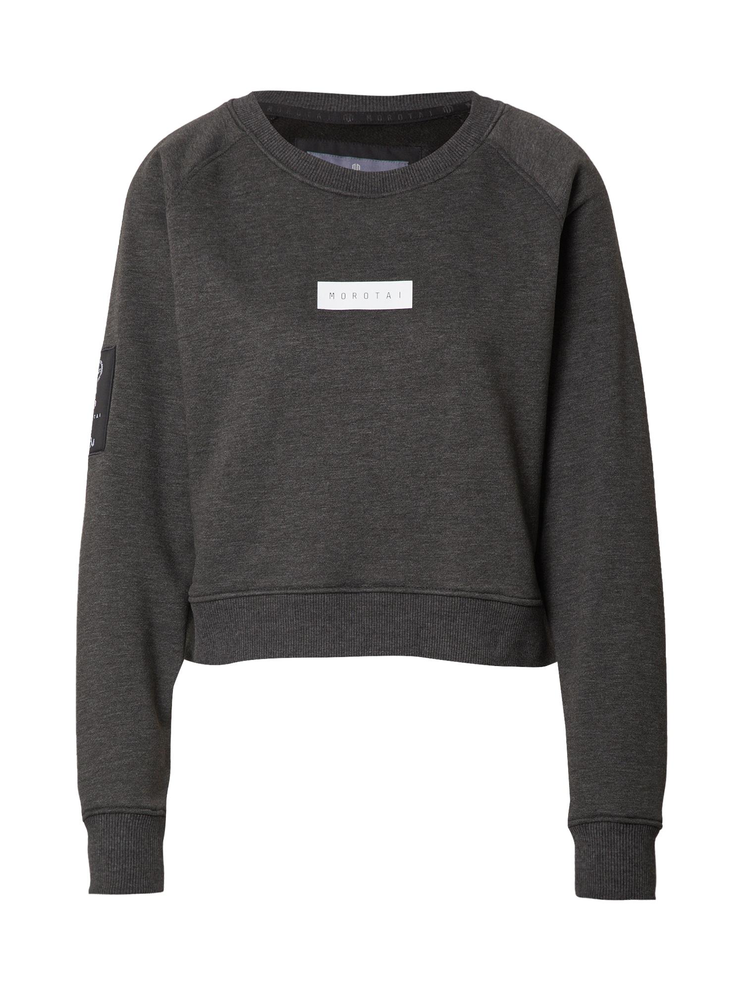 MOROTAI Sportinio tipo megztinis pilka / tamsiai pilka