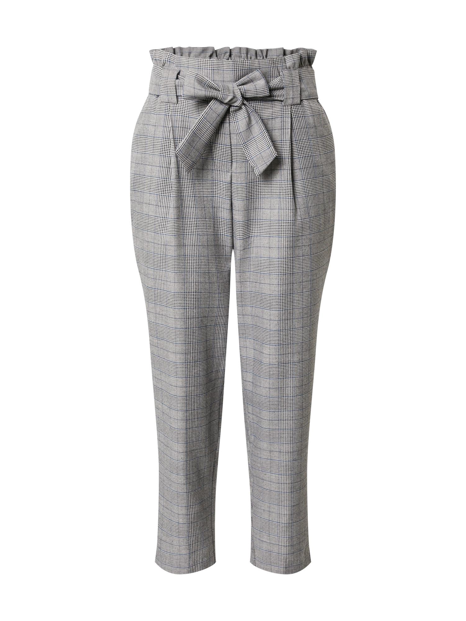JACQUELINE de YONG Kalhoty se sklady v pase  šedý melír / tmavě šedá
