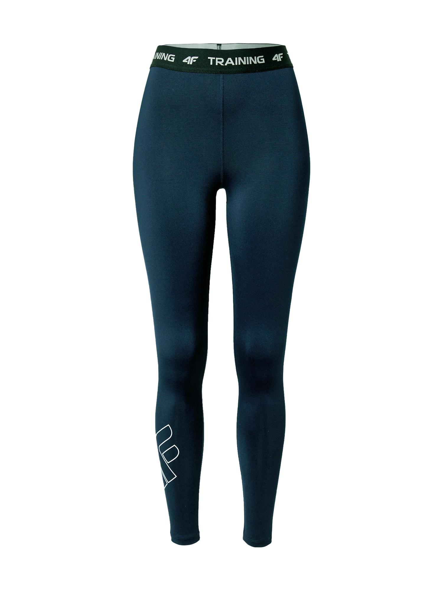 4F Sportinės kelnės tamsiai mėlyna / juoda / balta