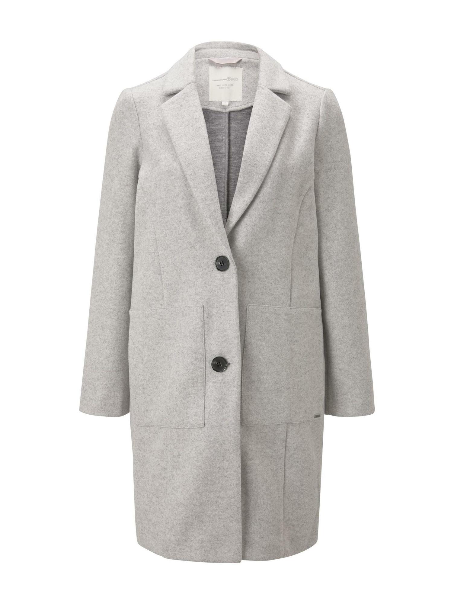 TOM TAILOR DENIM Přechodný kabát  šedá
