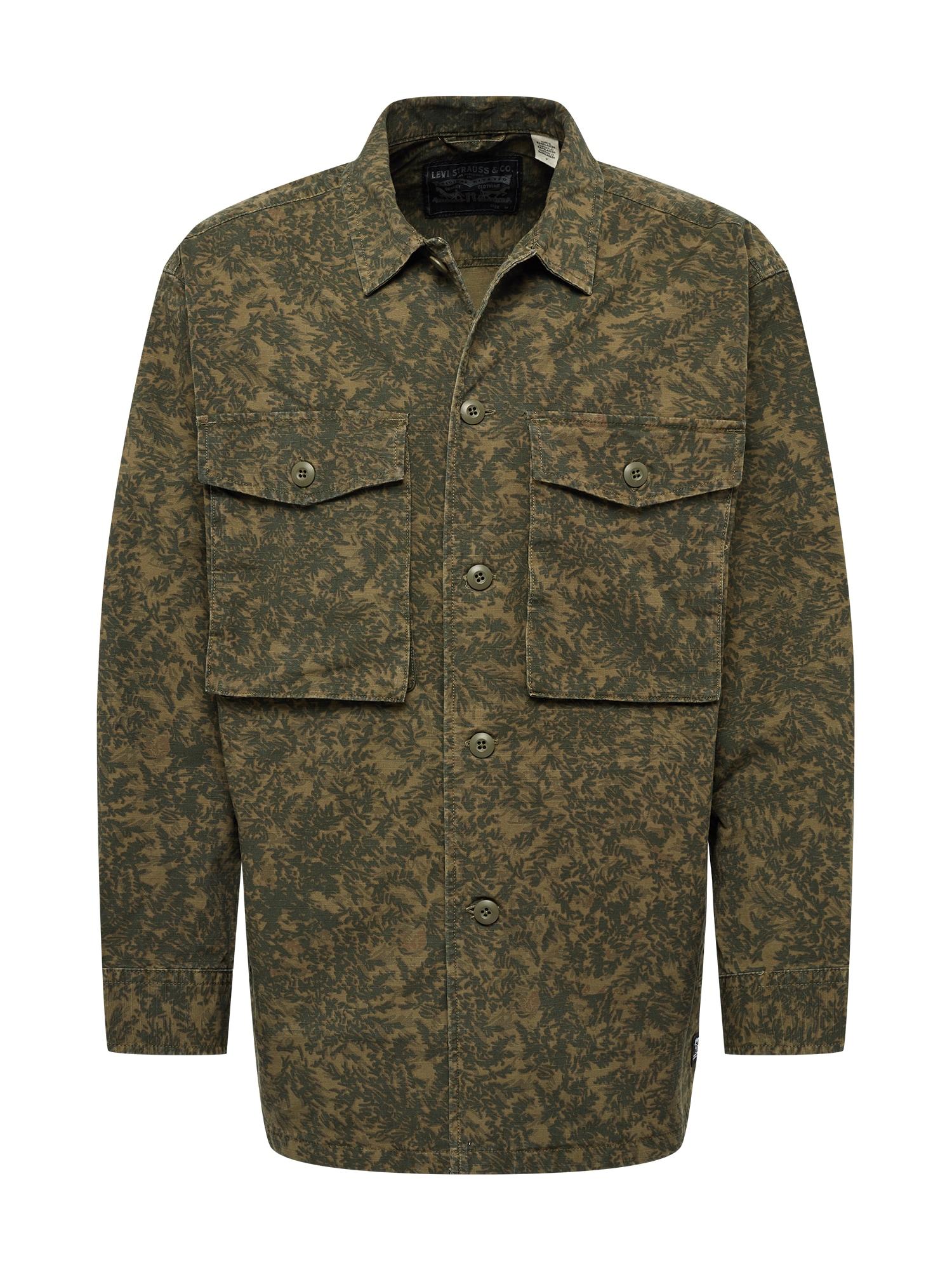 LEVI'S Demisezoninė striukė 'Hayes' alyvuogių spalva / rusvai žalia