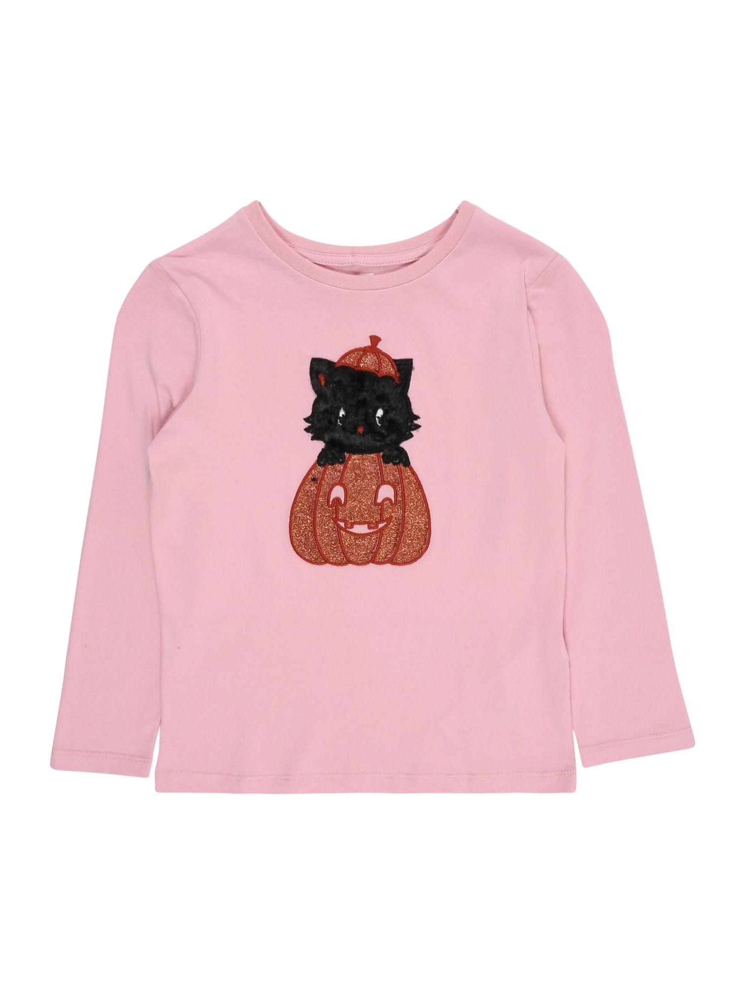 Cotton On Tričko 'Stevie'  růžová / černá / zlatá / tmavě oranžová / bílá