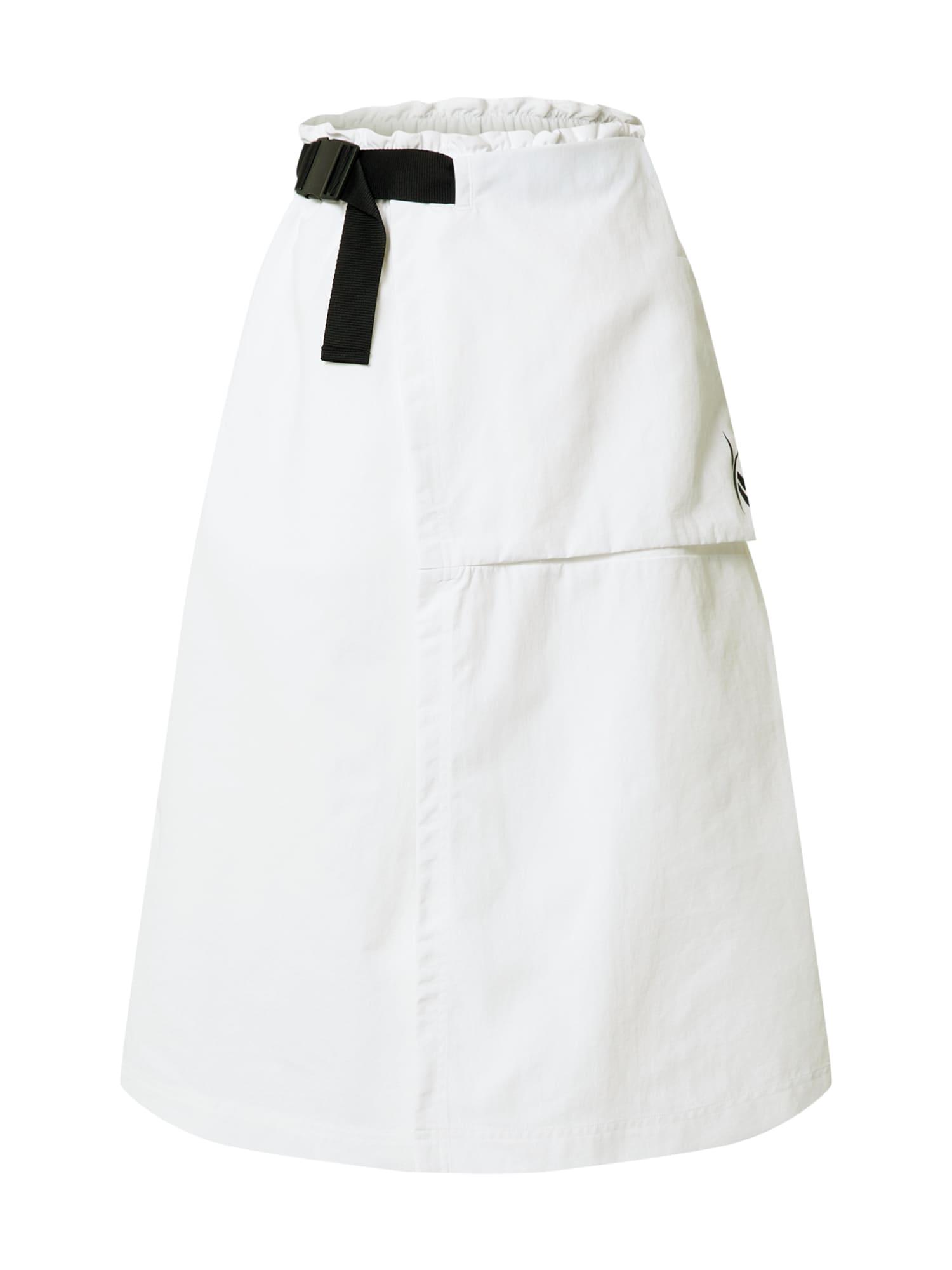 REEBOK Sportinio stiliaus sijonas balta / juoda