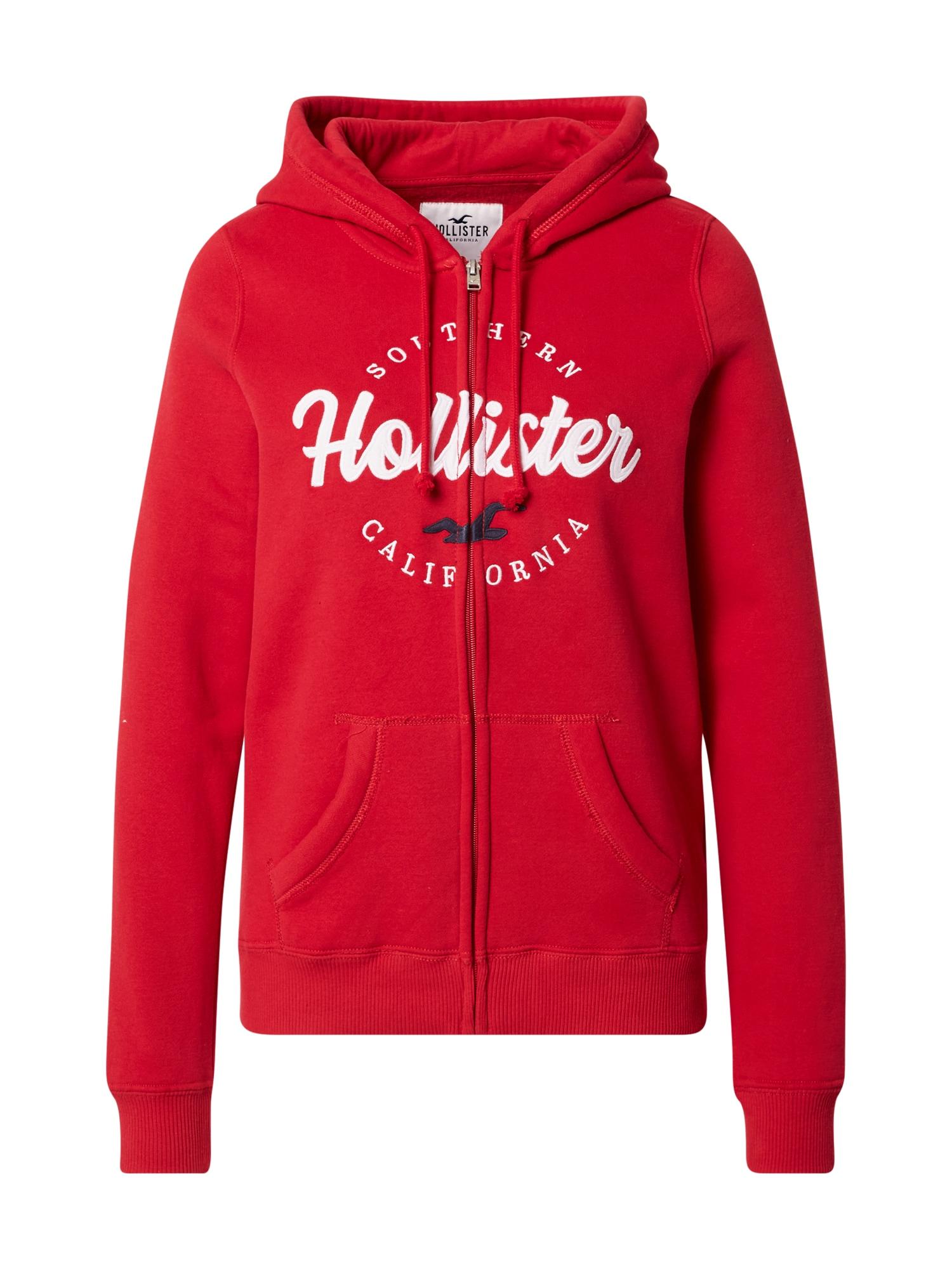 HOLLISTER Džemperis raudona / balta
