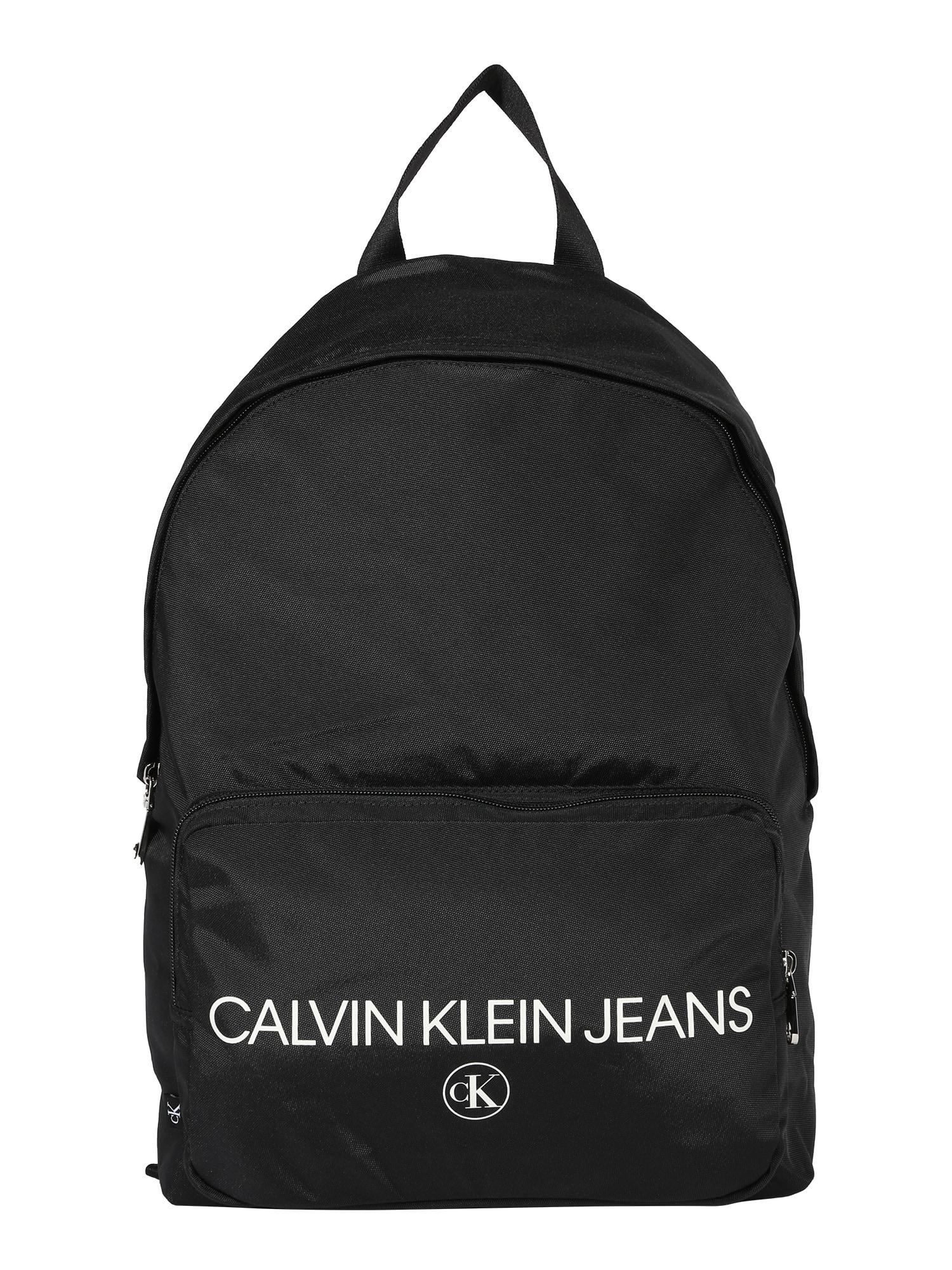 Calvin Klein Jeans Kuprinė 'Campus BP' juoda