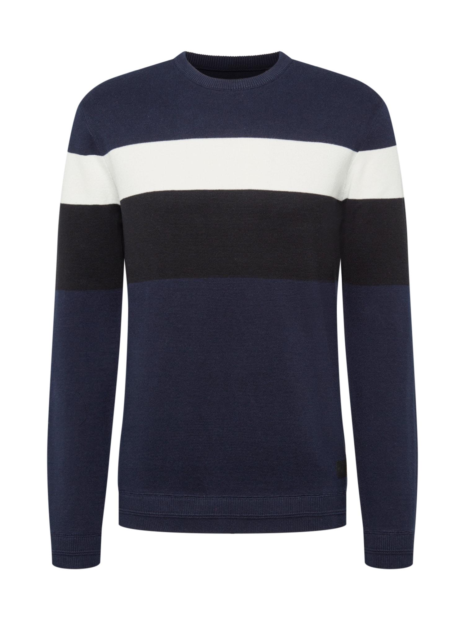 Only & Sons Svetr  námořnická modř / černá / bílá